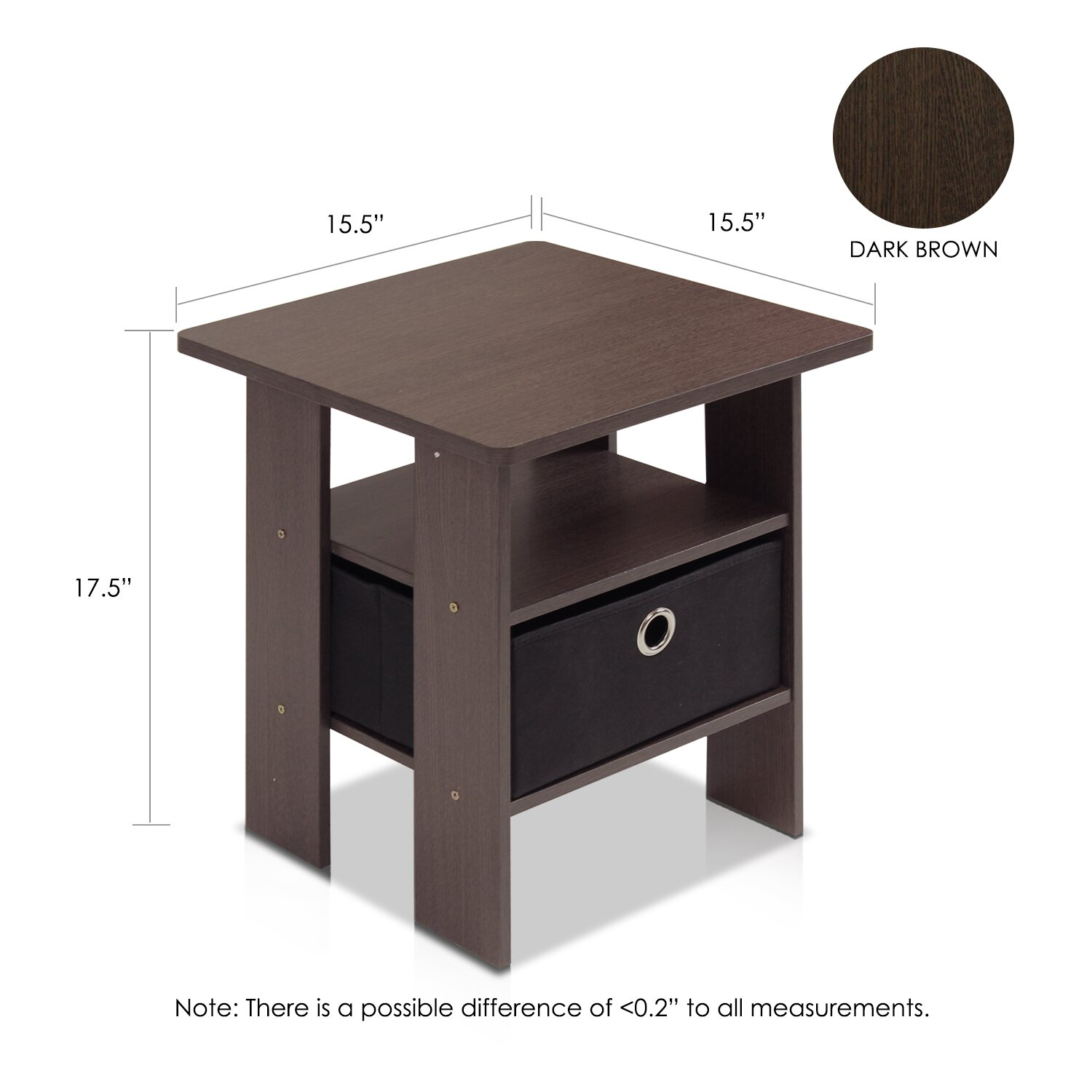 Furinno End Table & Reviews