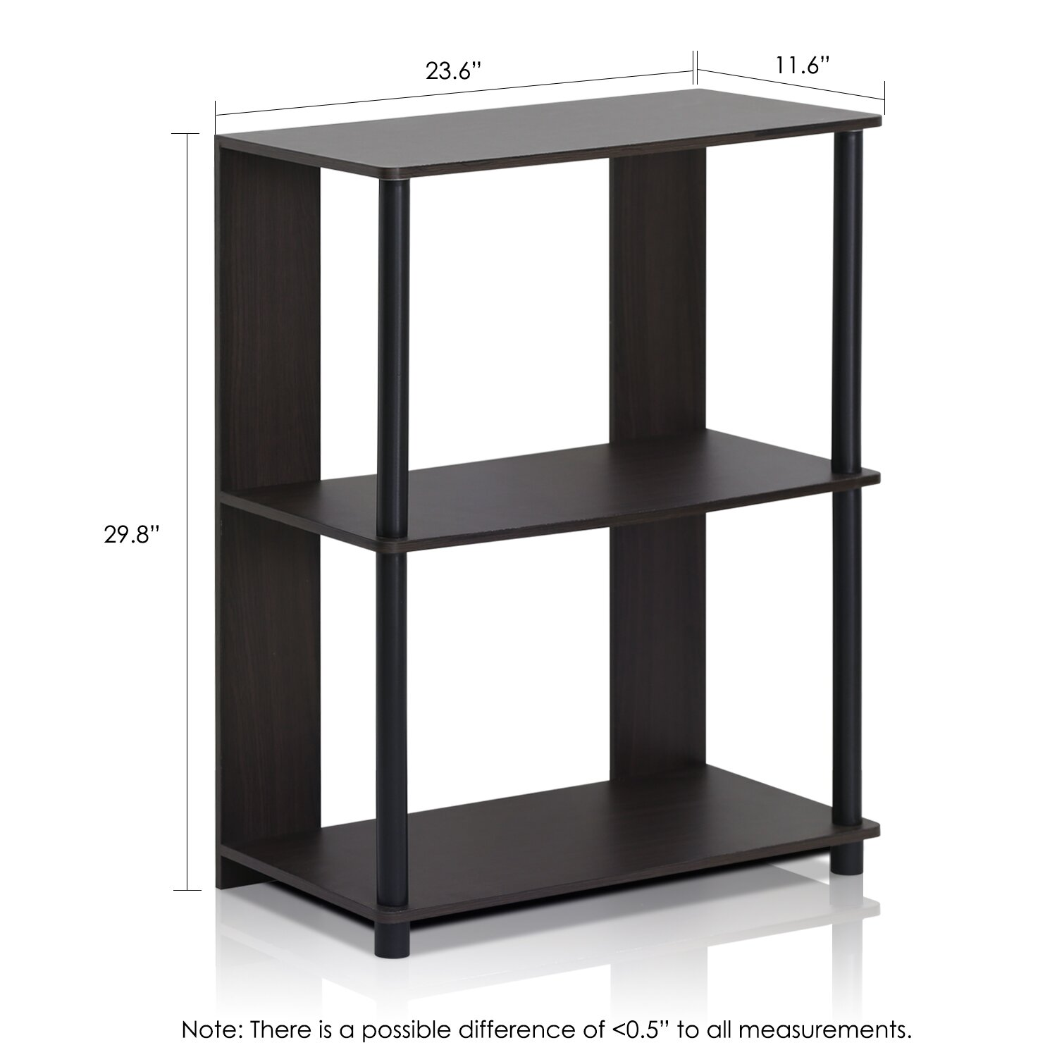 furinno jaya simple design 30 etagere bookcase reviews wayfair. Black Bedroom Furniture Sets. Home Design Ideas