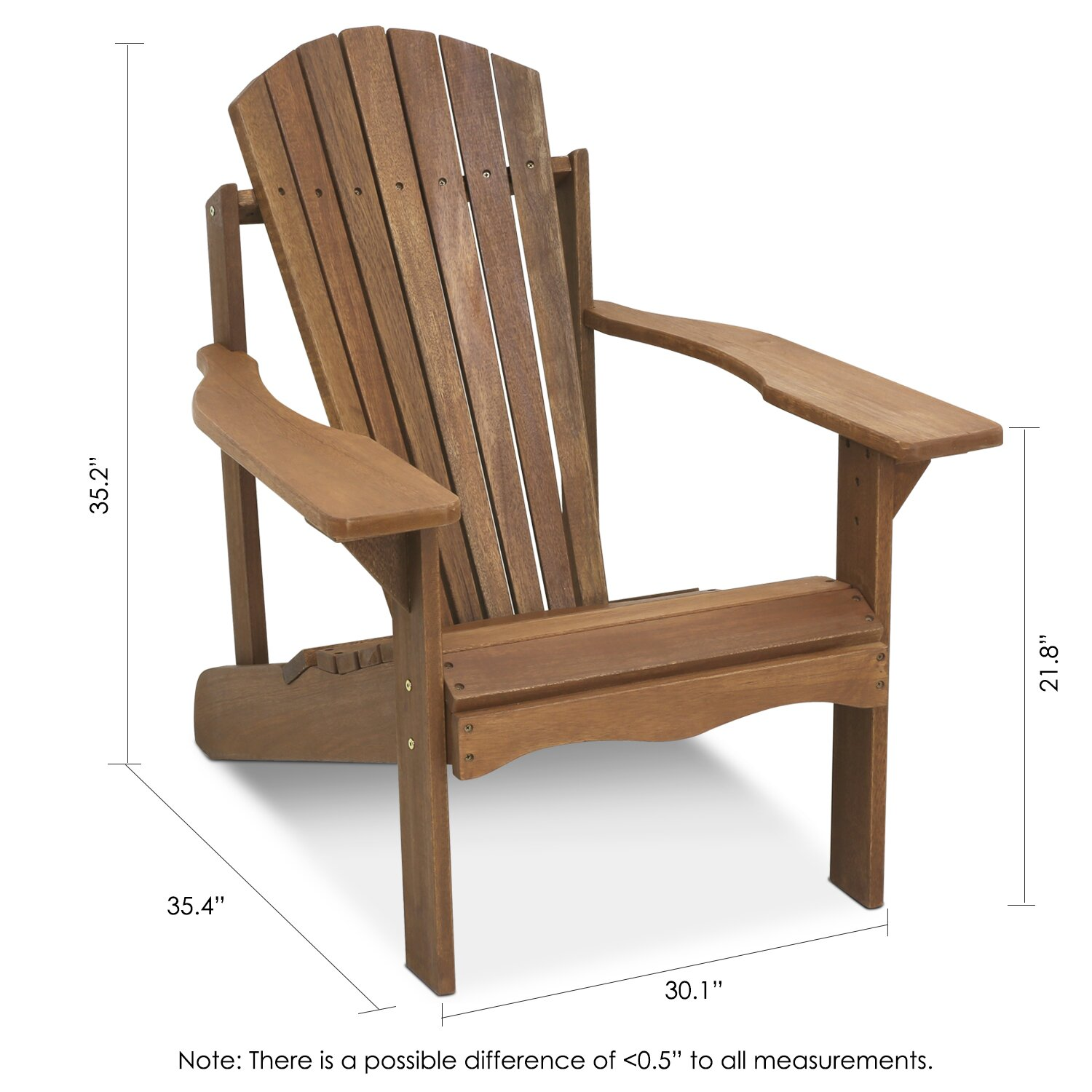 Furinno Tioman Teak Hardwood Adirondack Patio Chair Reviews Wayfair