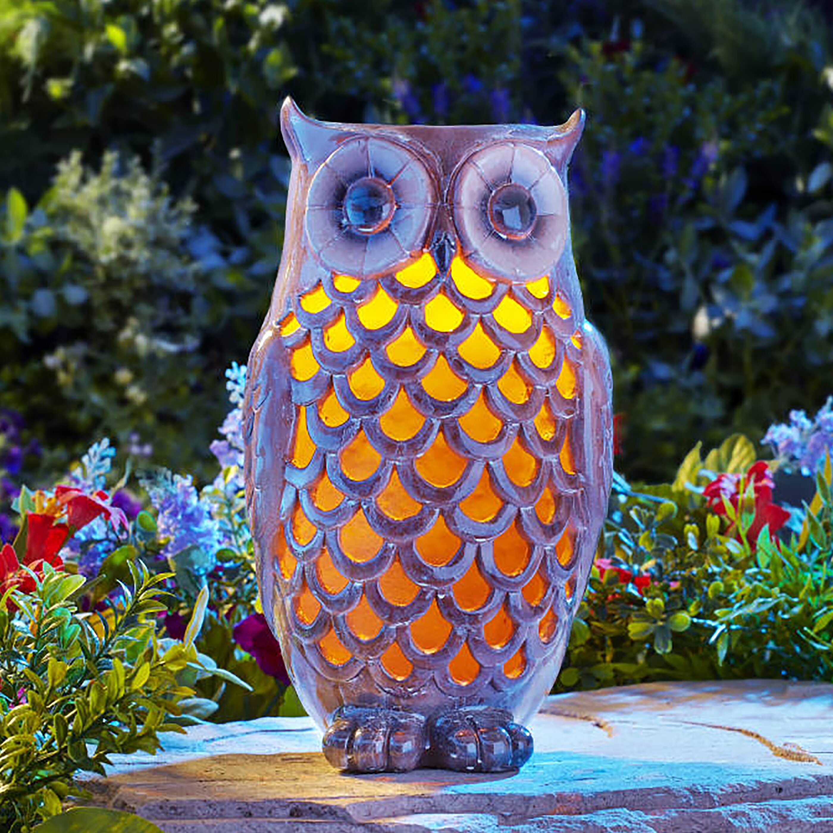 Moonrays Owl Solar Light Statue Wayfair
