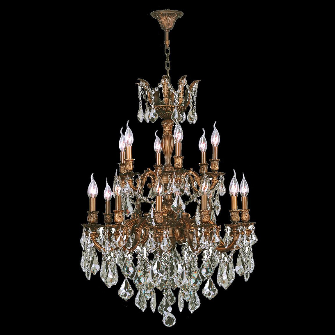 Worldwide Lighting Versailles 18 Light Crystal Chandelier