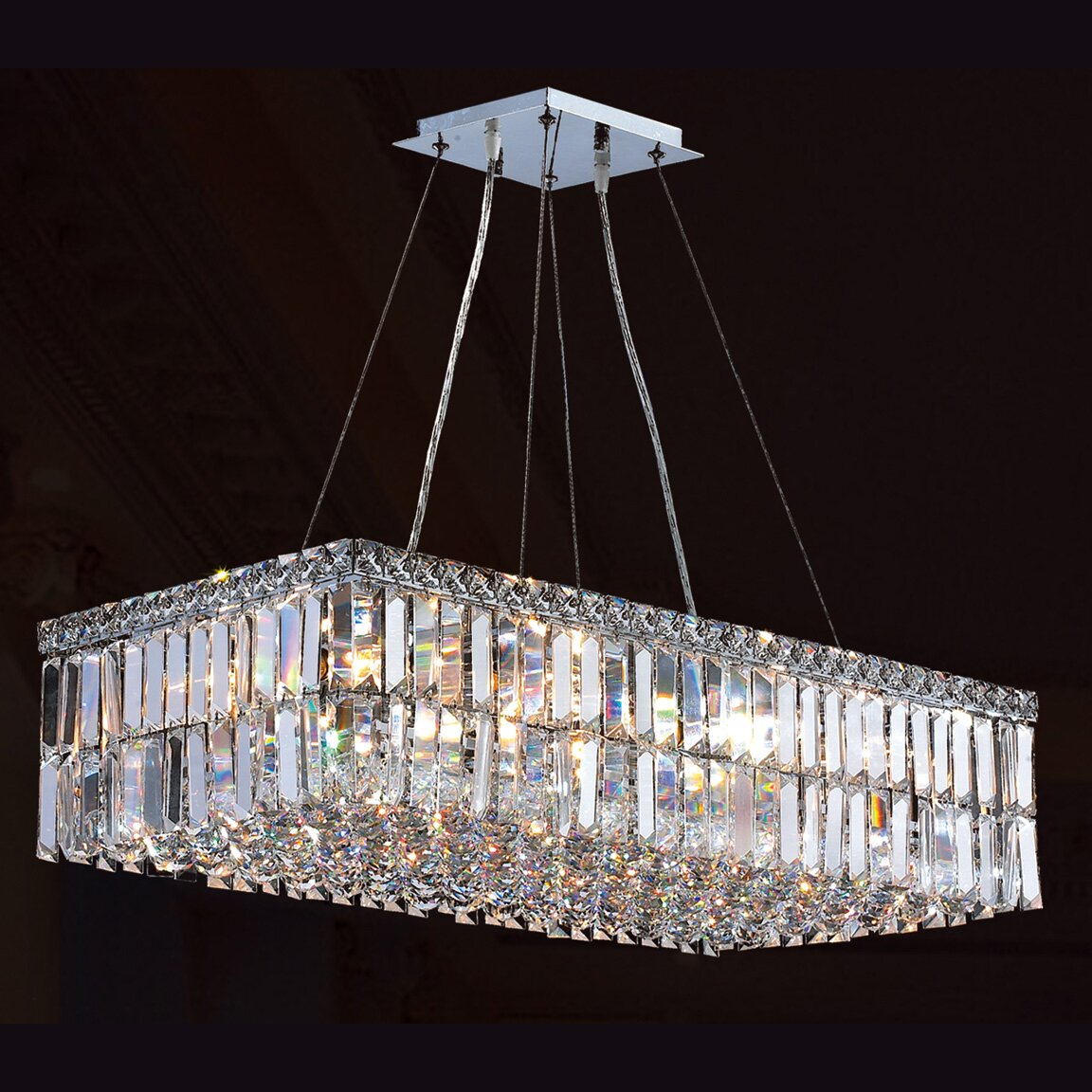 Worldwide lighting cascade 16 light crystal chandelier reviews wayfair - Lights and chandeliers ...
