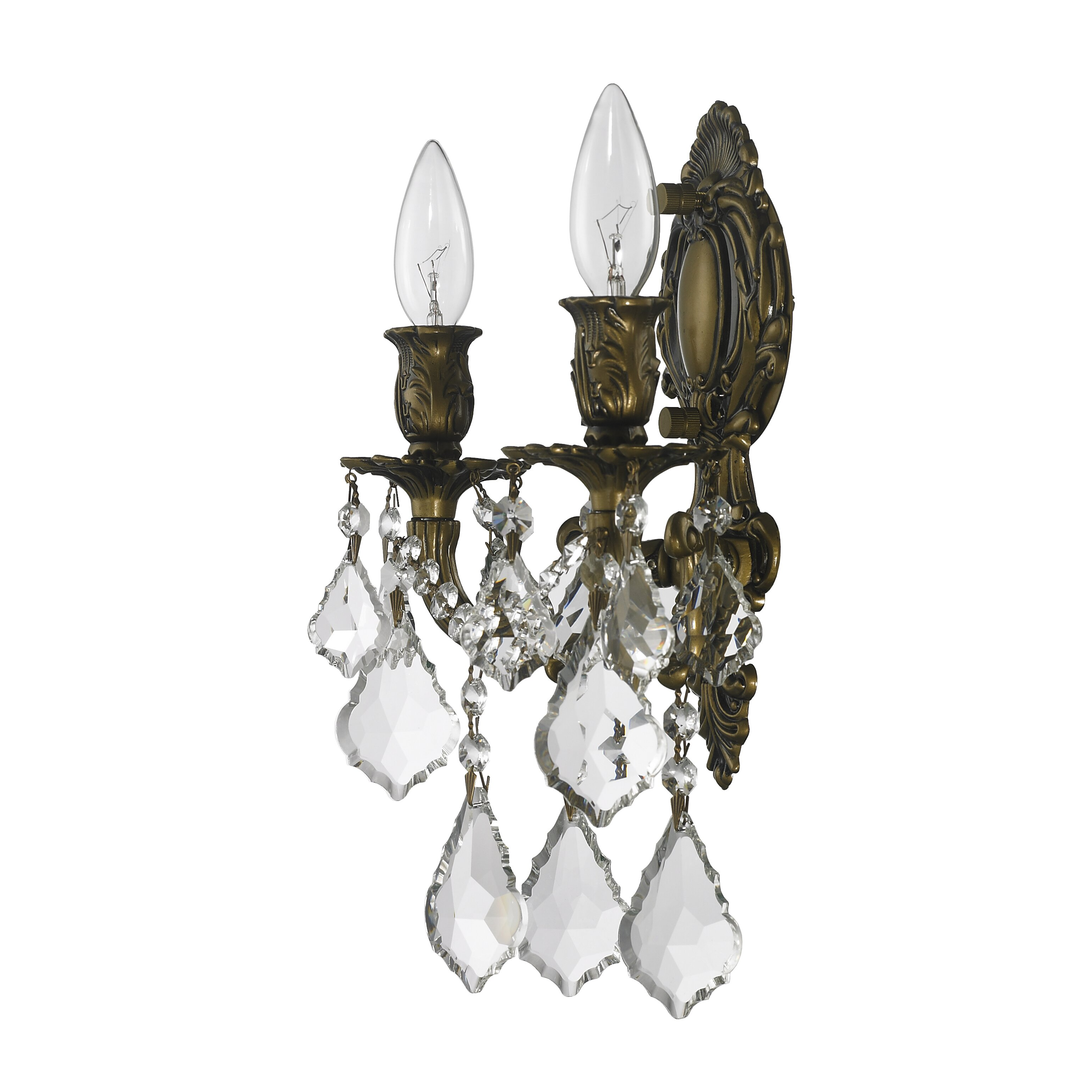 Worldwide Lighting Versailles 2 Light Wall Sconce