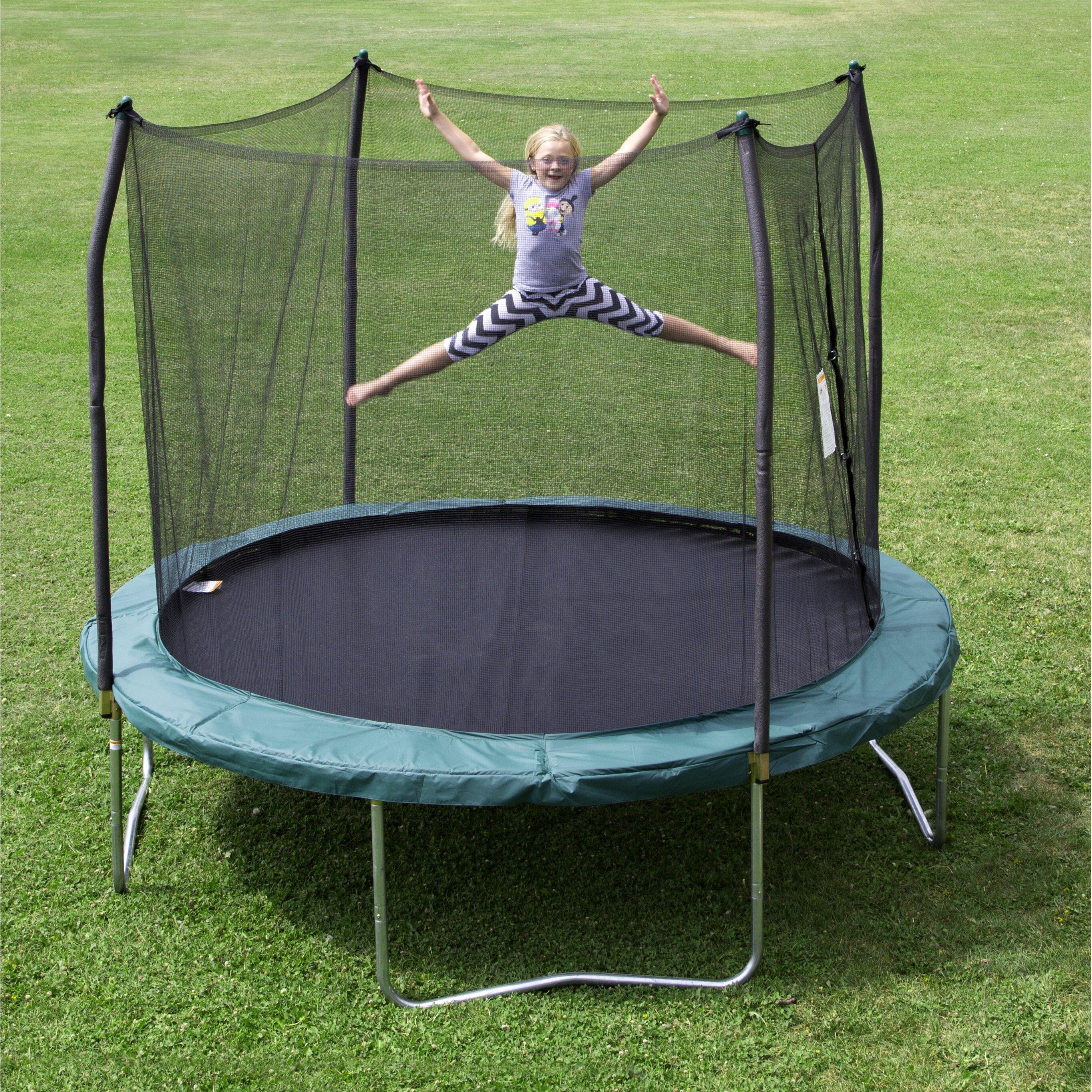 Skywalker 10 39 round trampoline with enclosure wayfair for Skywalker trampoline