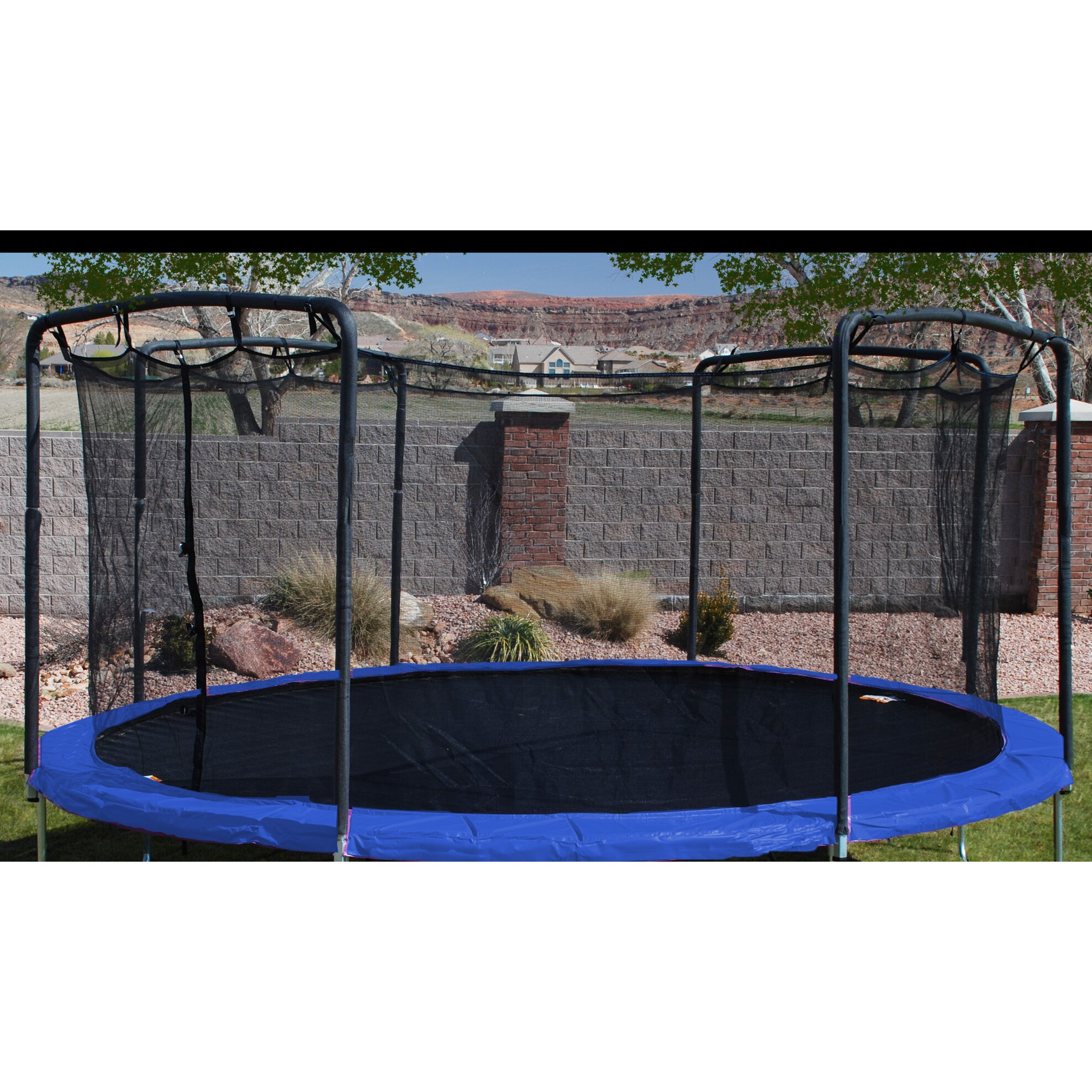 17 X 15 Oval Trampoline With Safety Enclosure: Skywalker 17' X 15' Oval Trampoline Replacement Frame Pad