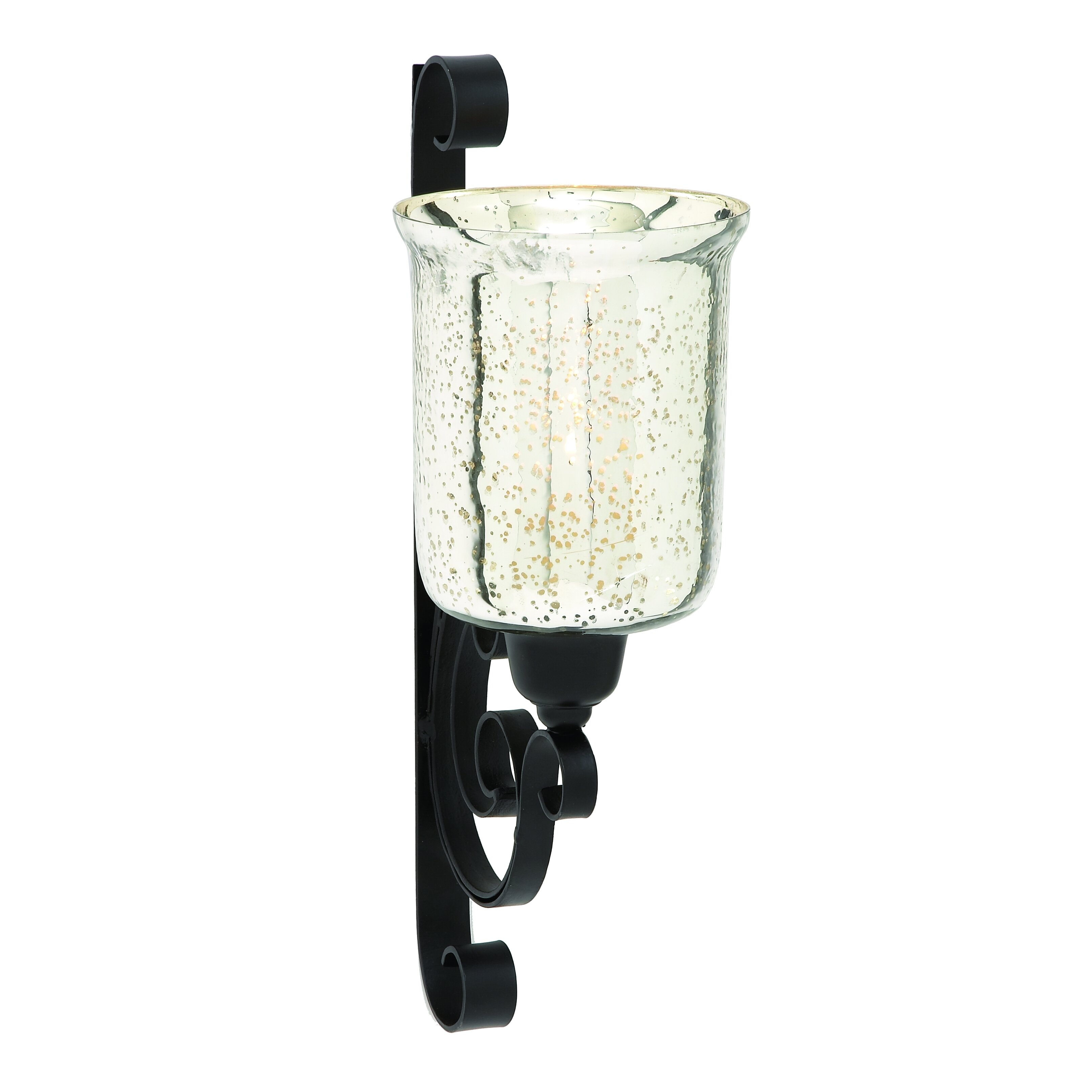 Wall Sconce Magnifying Glass : Woodland Imports Attractively Styled Indian Metal Glass Wall Sconce & Reviews Wayfair