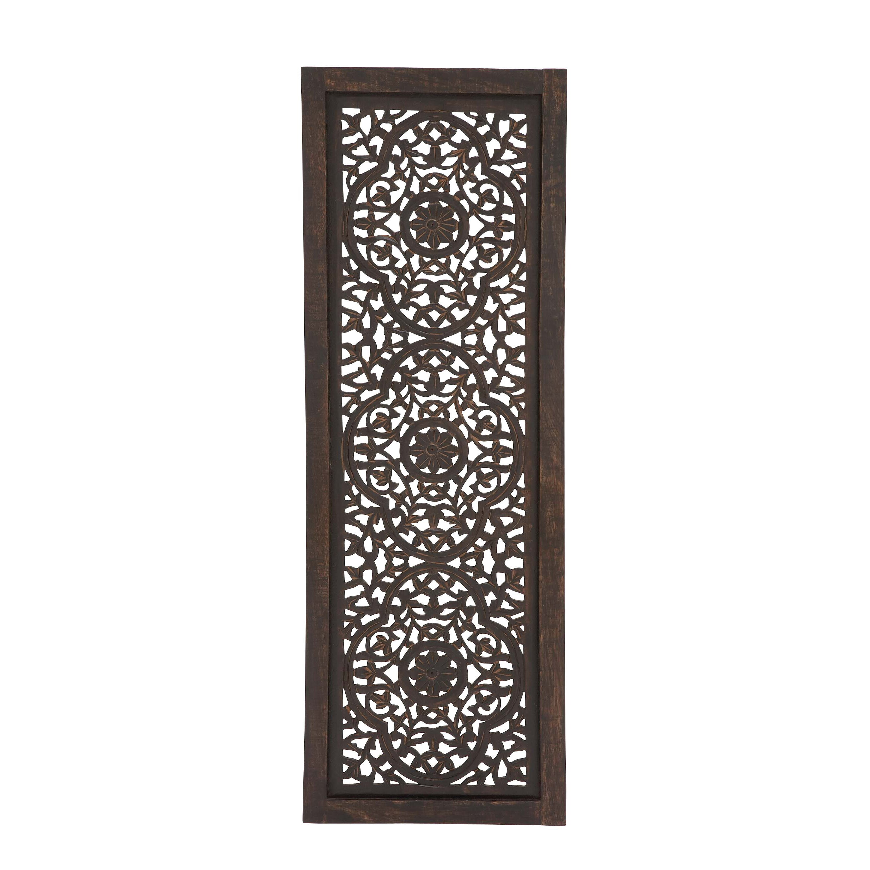 Woodland Imports Enthralling Wood Panel Wall D 233 Cor