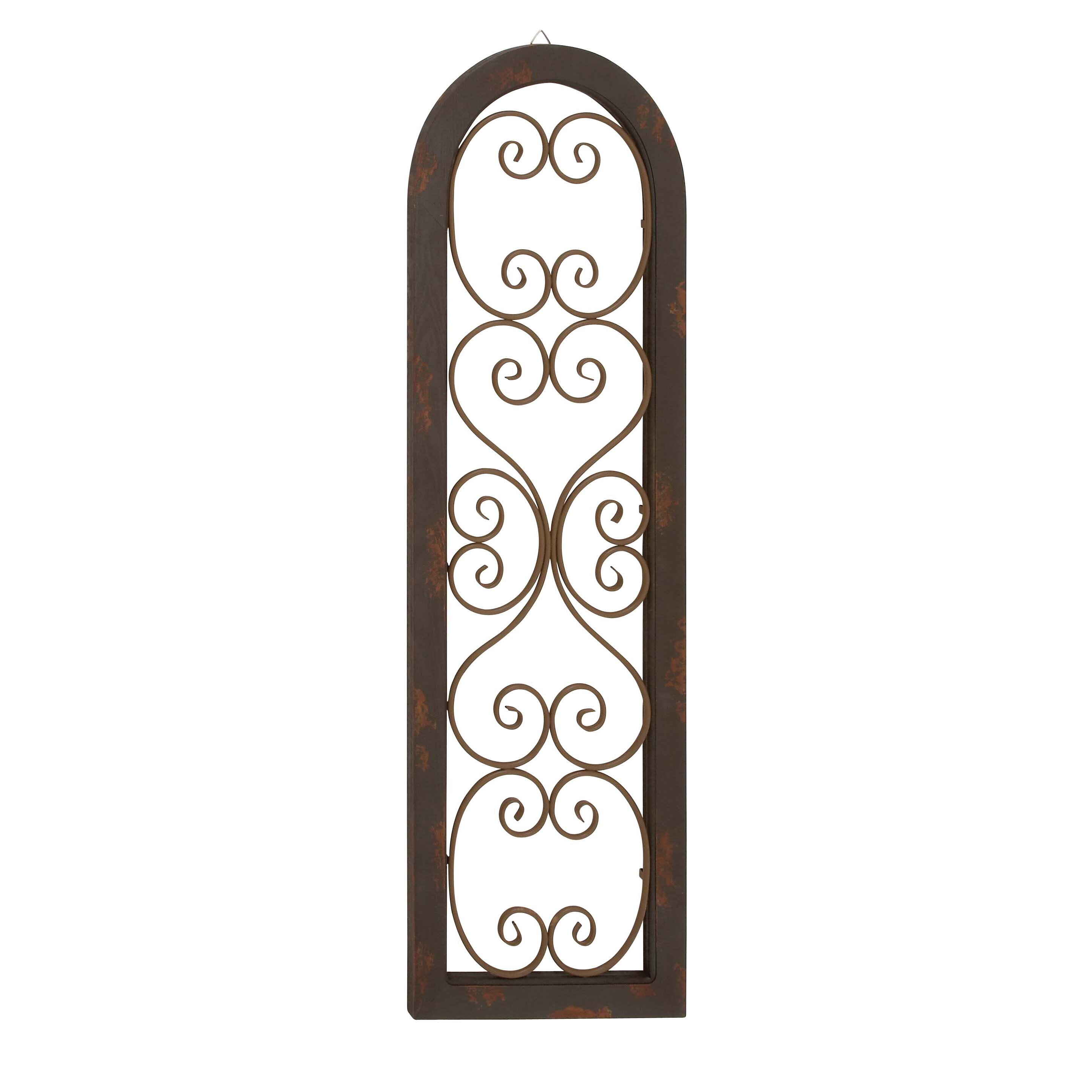 Metal wall décor by woodland imports : Woodland imports elegant and attractive wood metal wall