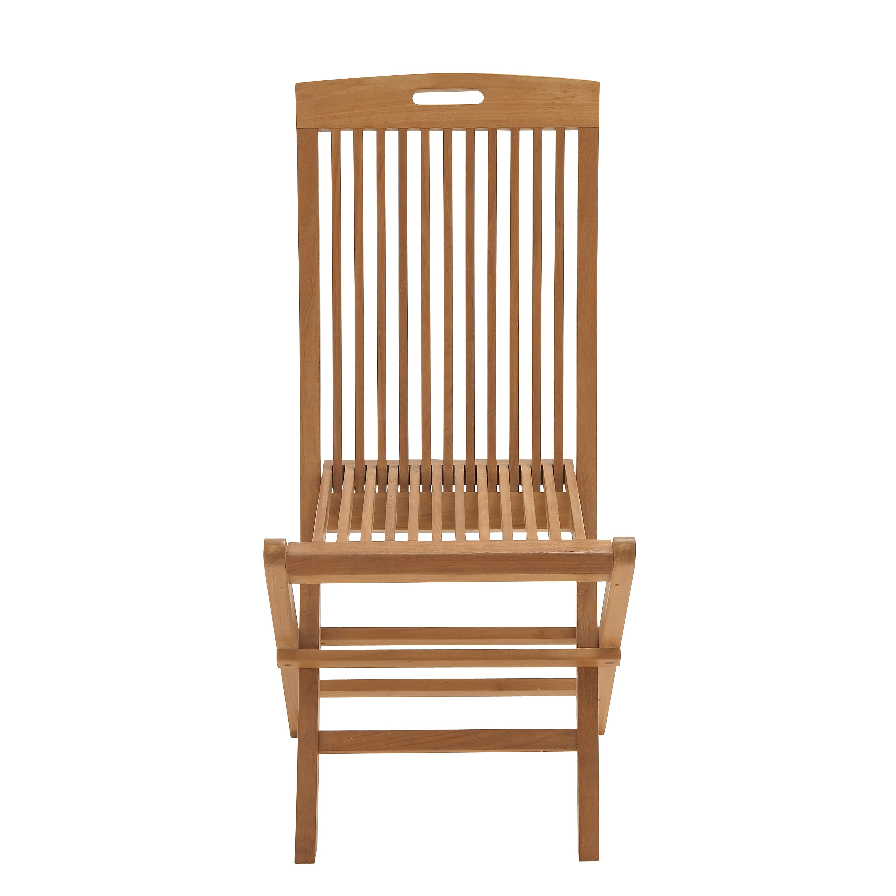 Woodland Imports fortable Wood Teak Folding Chair & Reviews