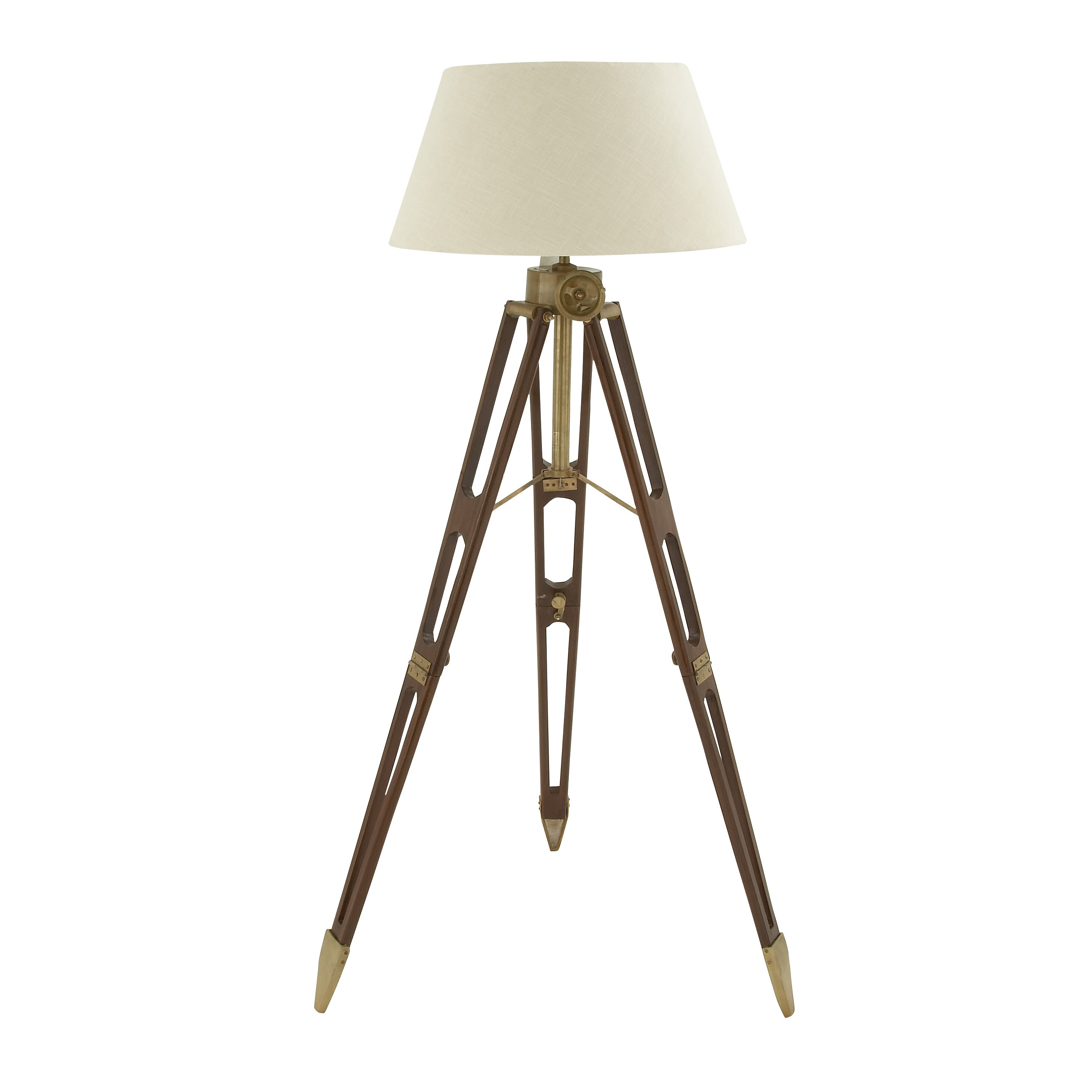 Woodland imports 67 tripod floor lamp reviews wayfair for Wayfair industrial lamp