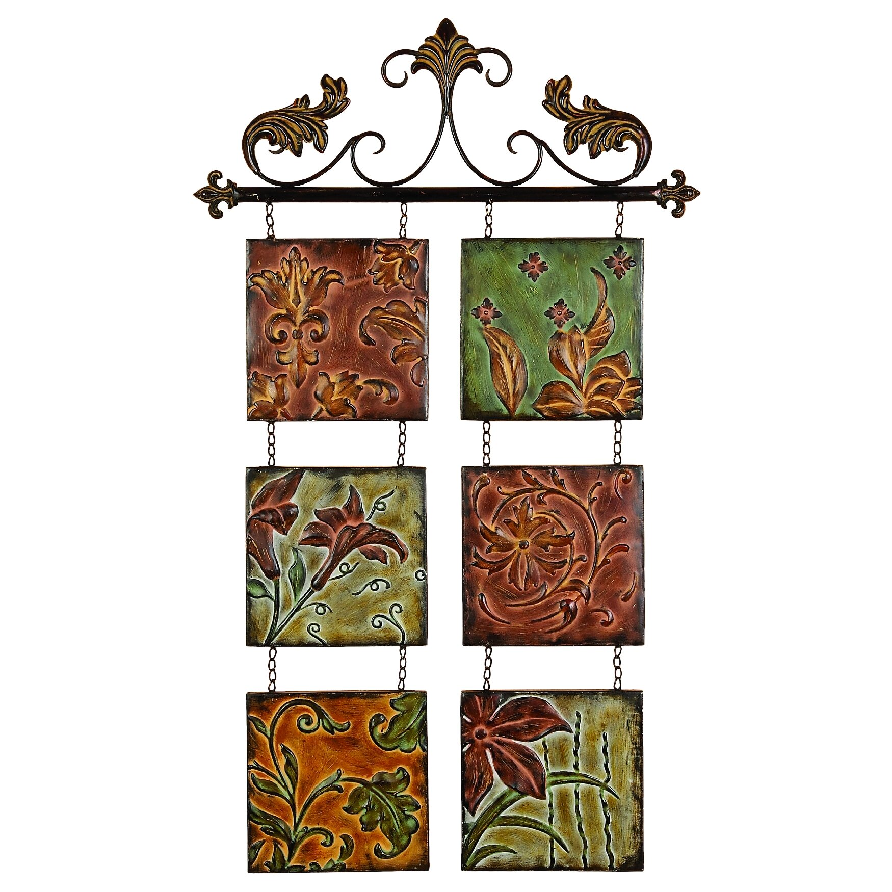 Woodland Imports Botanical Scroll Wall D Cor Reviews