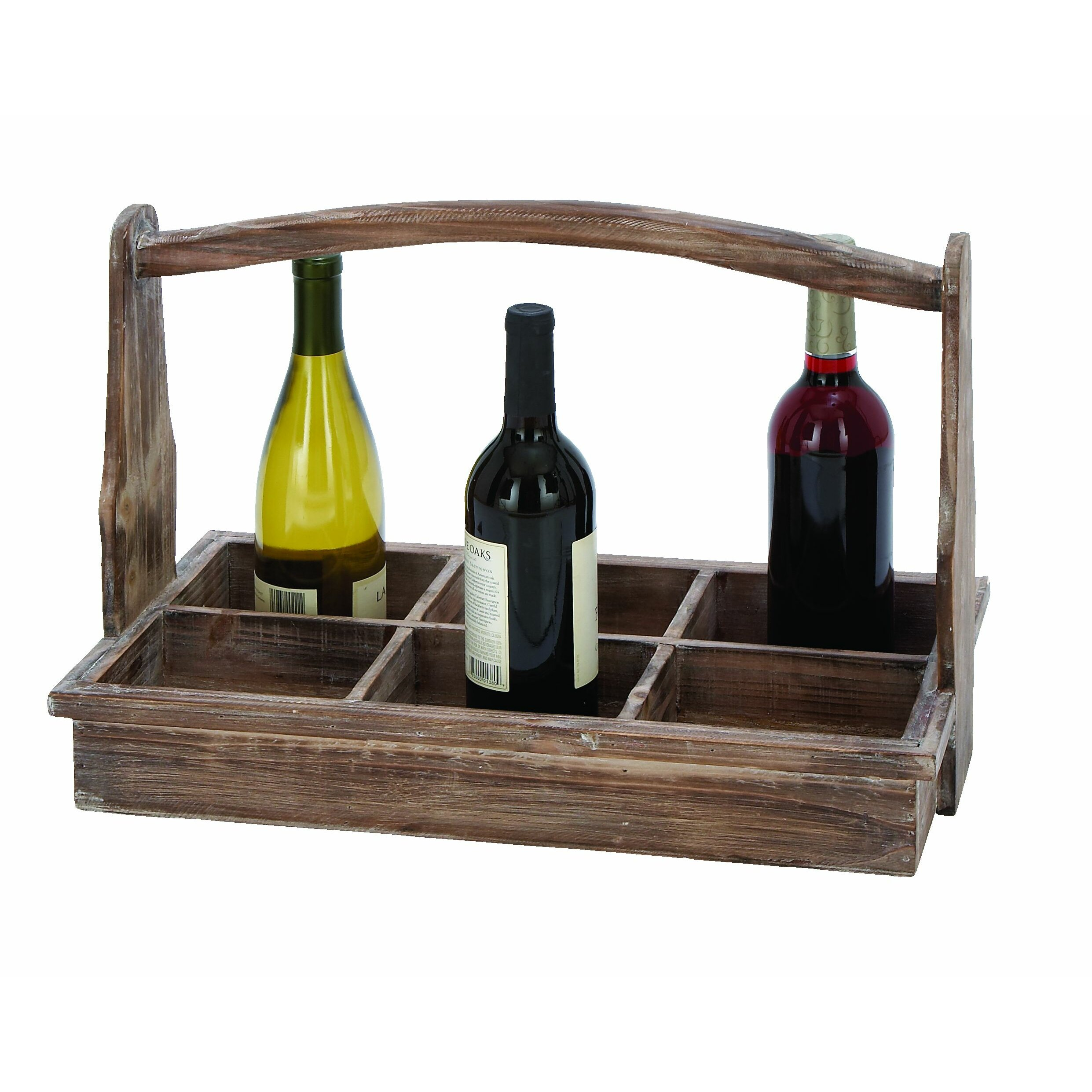 Woodland imports 6 bottle tabletop wine rack reviews for Wine bottle christmas tree frame for sale