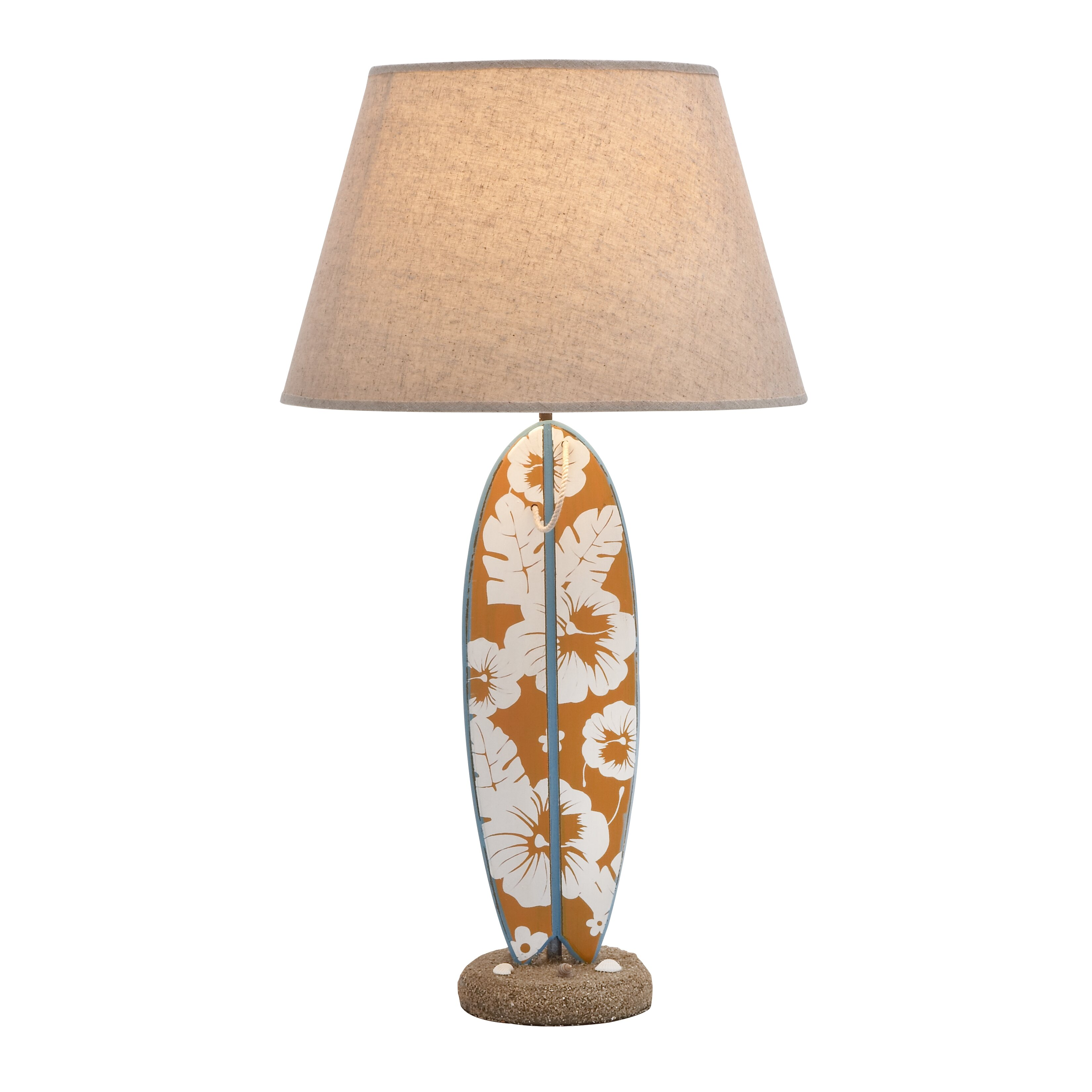 """Woodland Imports Unique Surfboard 25"""" Table Lamp & Reviews ..."""