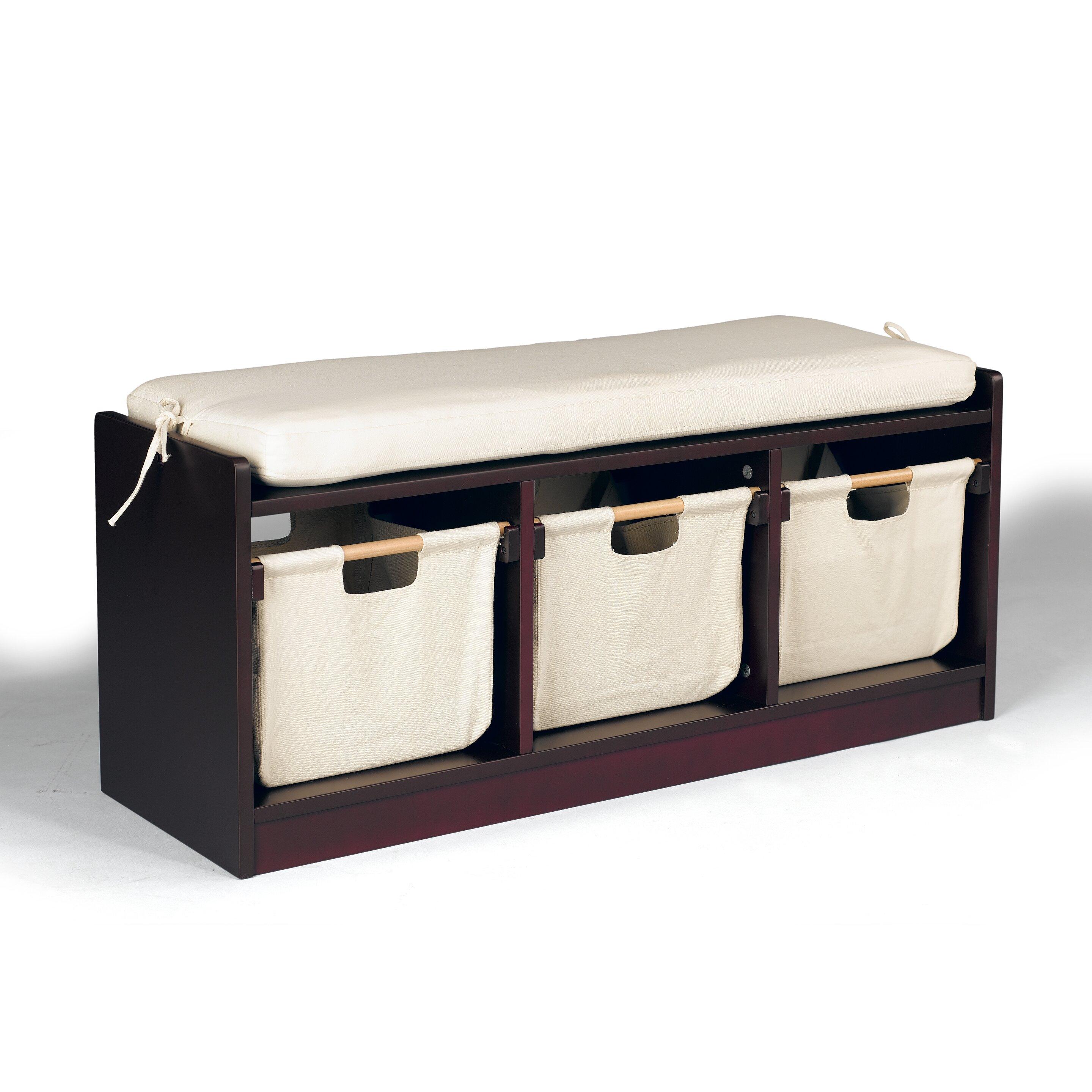 Kids Storage Bench Furniture Toy Box Bedroom Playroom: Sunnywood WonkaWoo Deluxe Children Toy Storage Bench