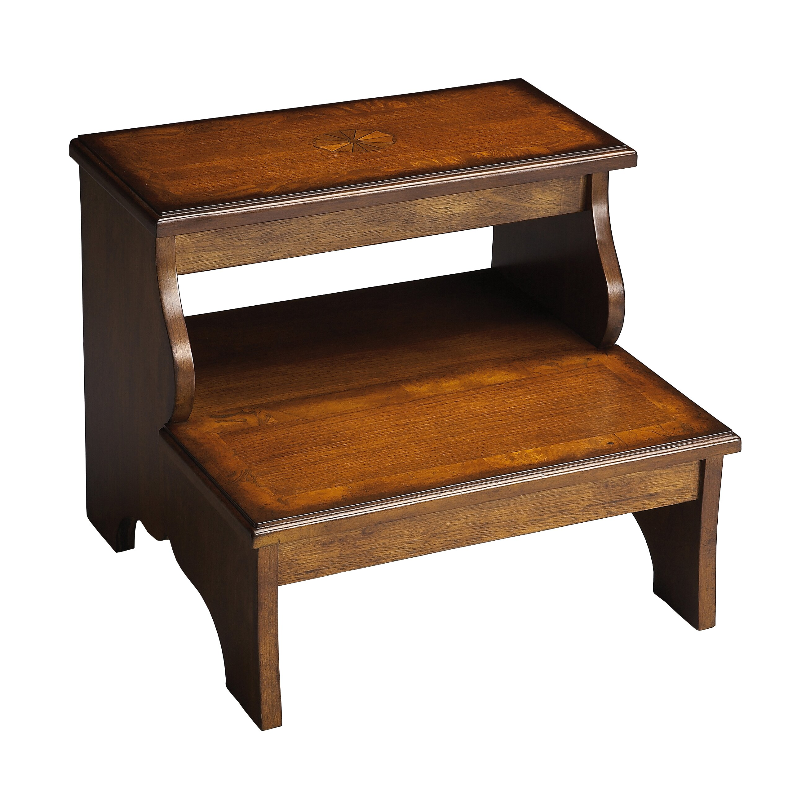 Butler Masterpiece 2 Step Wood Step Stool With 85 Lb Load