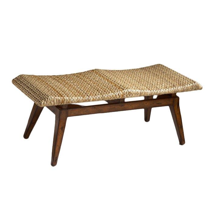 Butler Designer 39 S Edge Woven Seagrass Bench Reviews Wayfair