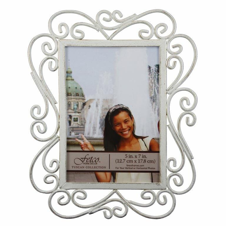 Fetco Home Decor Tallara Scroll Detail Picture Frame