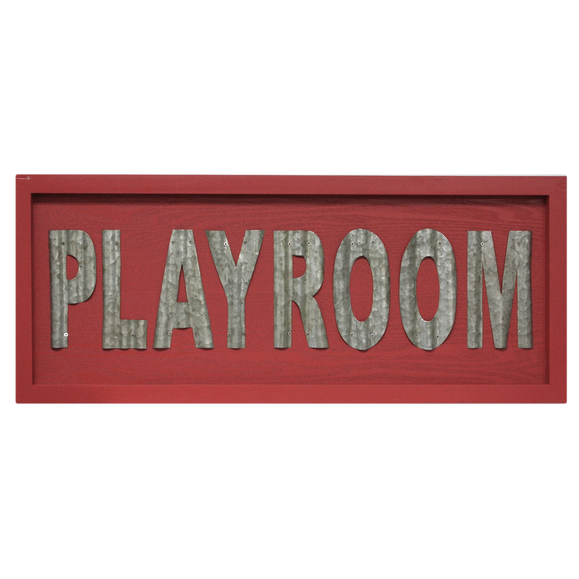 fetco home decor stetson playroom textual wall d cor wayfair. Black Bedroom Furniture Sets. Home Design Ideas