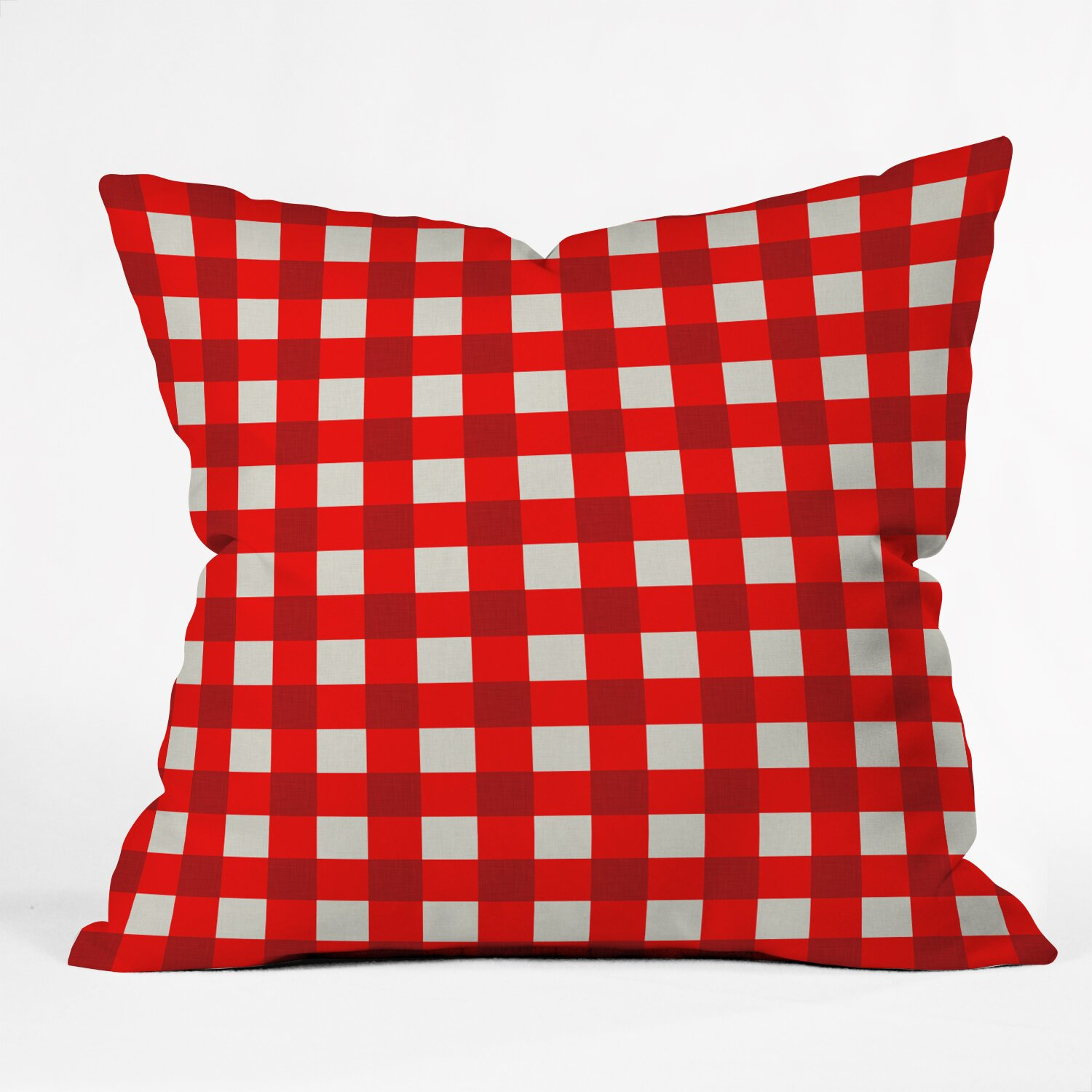 Red Dog Throw Pillows : DENY Designs Holli Zollinger Red Gingham Indoor/Outdoor Throw Pillow & Reviews Wayfair