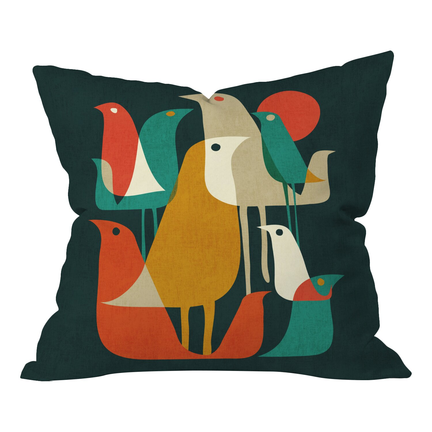 Decorative Pillows With Bird Design : DENY Designs Budi Kwan Flock Of Bird Indoor/Outdoor Throw Pillow & Reviews Wayfair