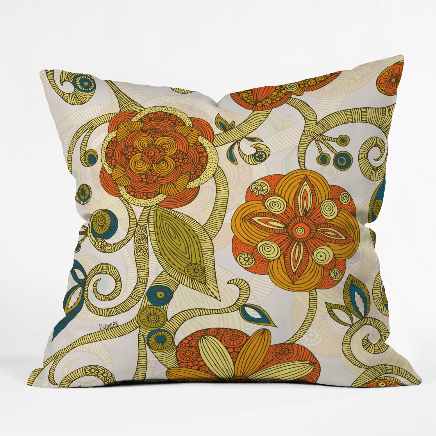 teen small bedroom deny designs valentina ramos flowers throw pillow 13497