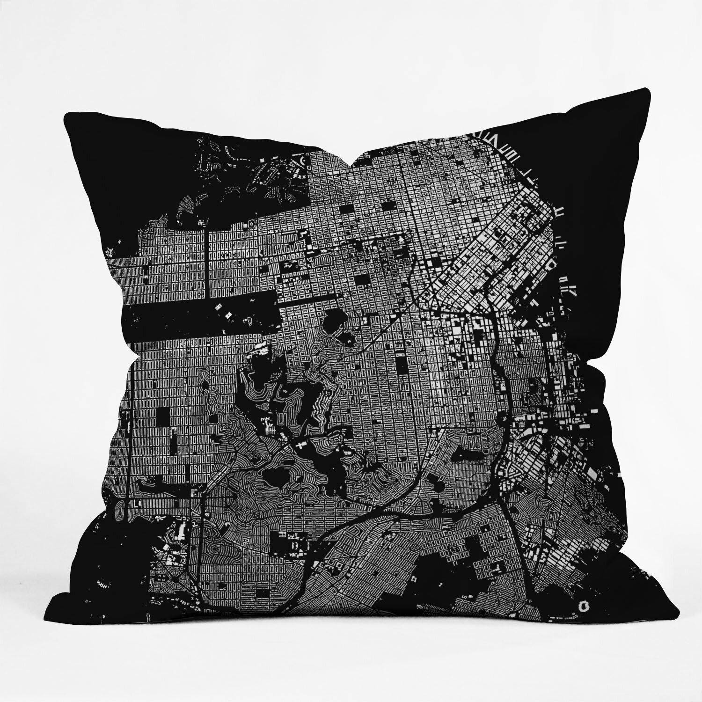 Decorative Pillows San Francisco : DENY Designs CityFabric Inc San Francisco Throw Pillow & Reviews Wayfair