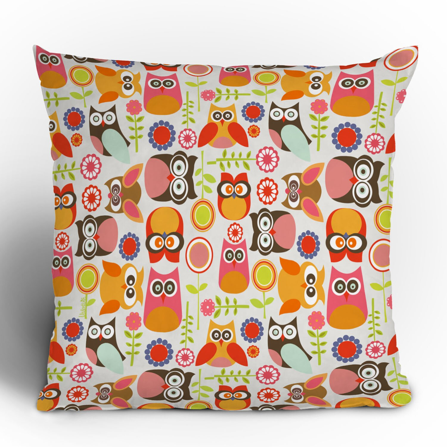 DENY Designs Valentina Ramos Cute Little Owls Throw Pillow & Reviews Wayfair