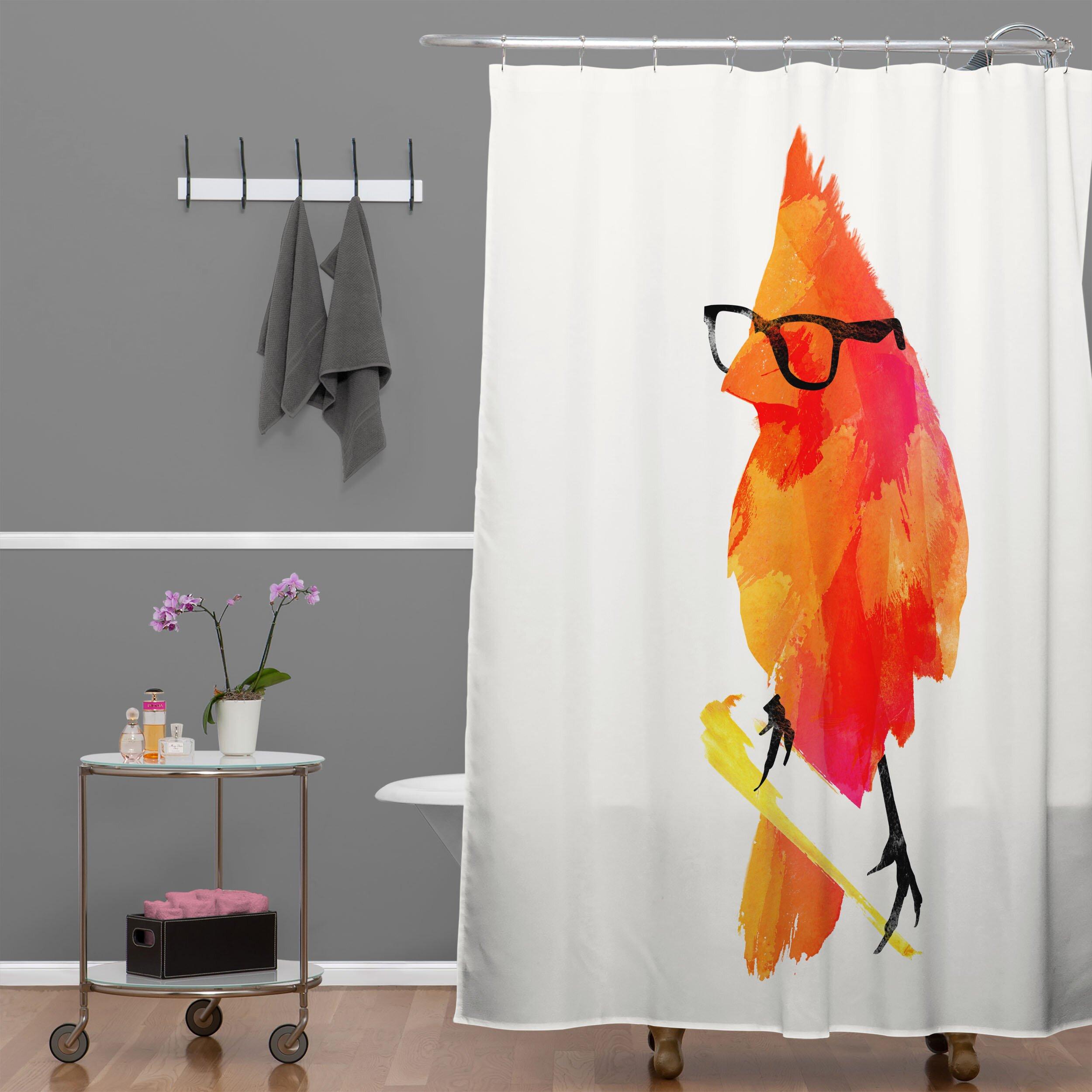 Kraken shower curtain - Deny Designs Robert Farkas Punk Bird Shower Curtain