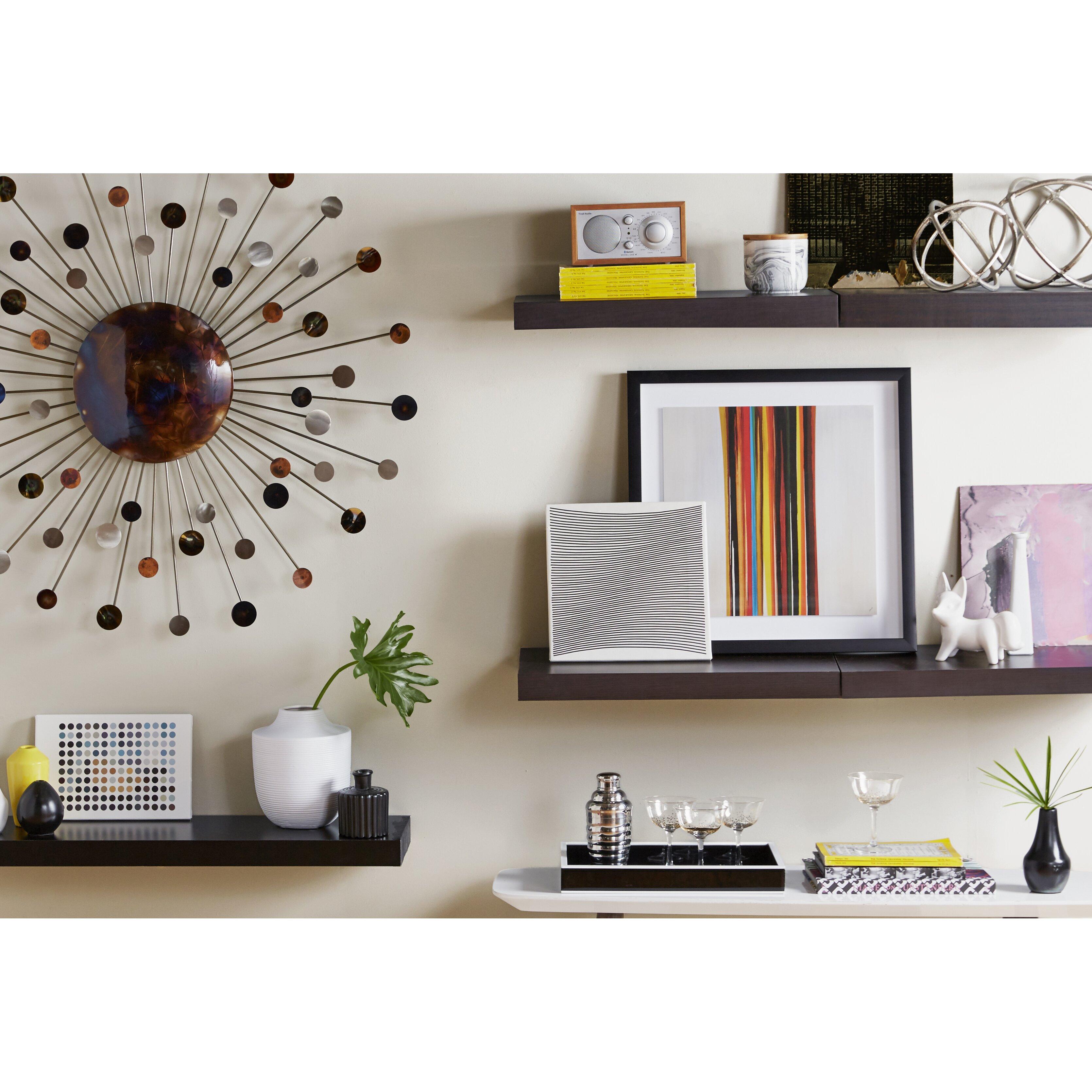 woodland home decor chicago floating shelf amp reviews wayfair