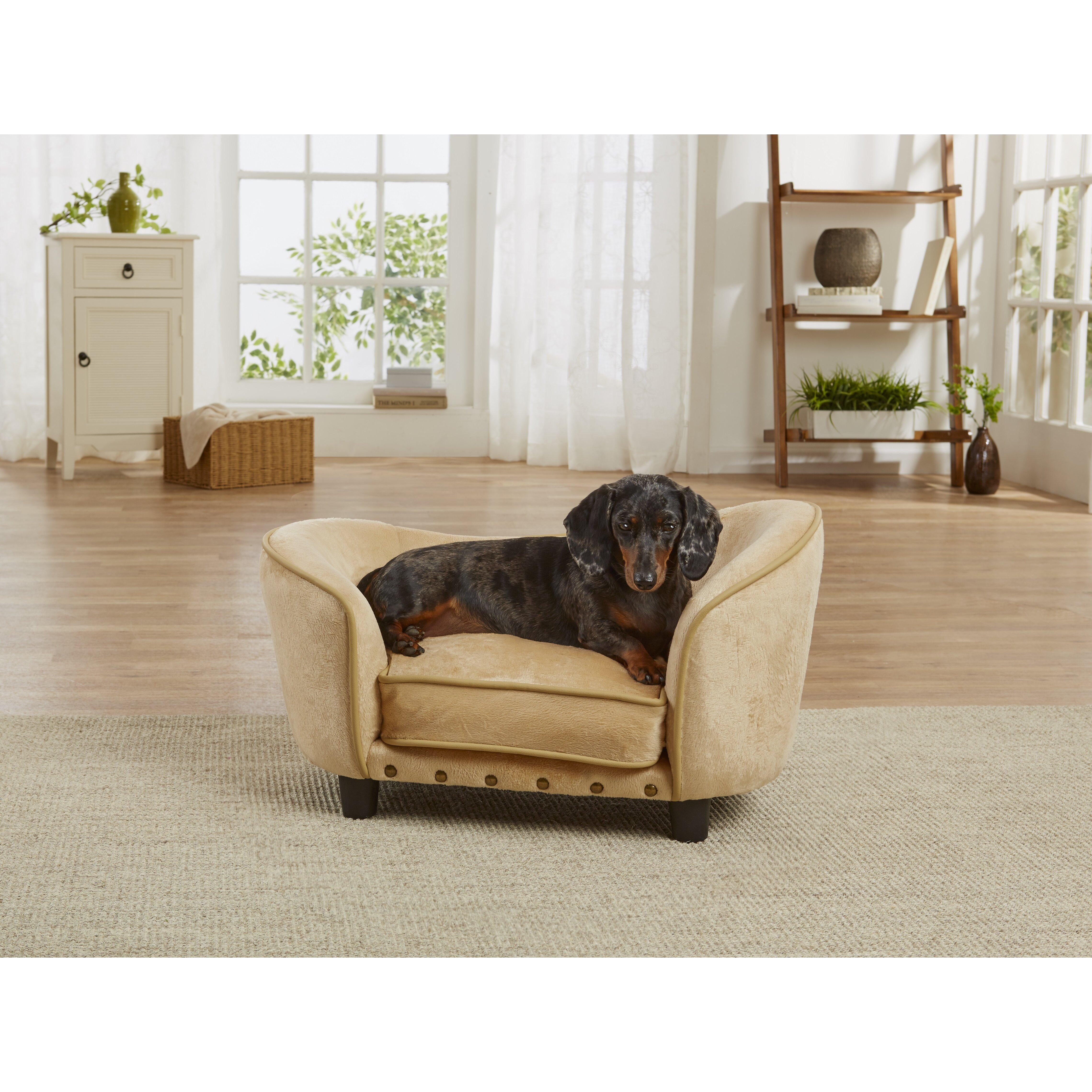 Enchanted Home Pet Ultra Plush Snuggle Dog Sofa With Cushion Reviews Wayfair