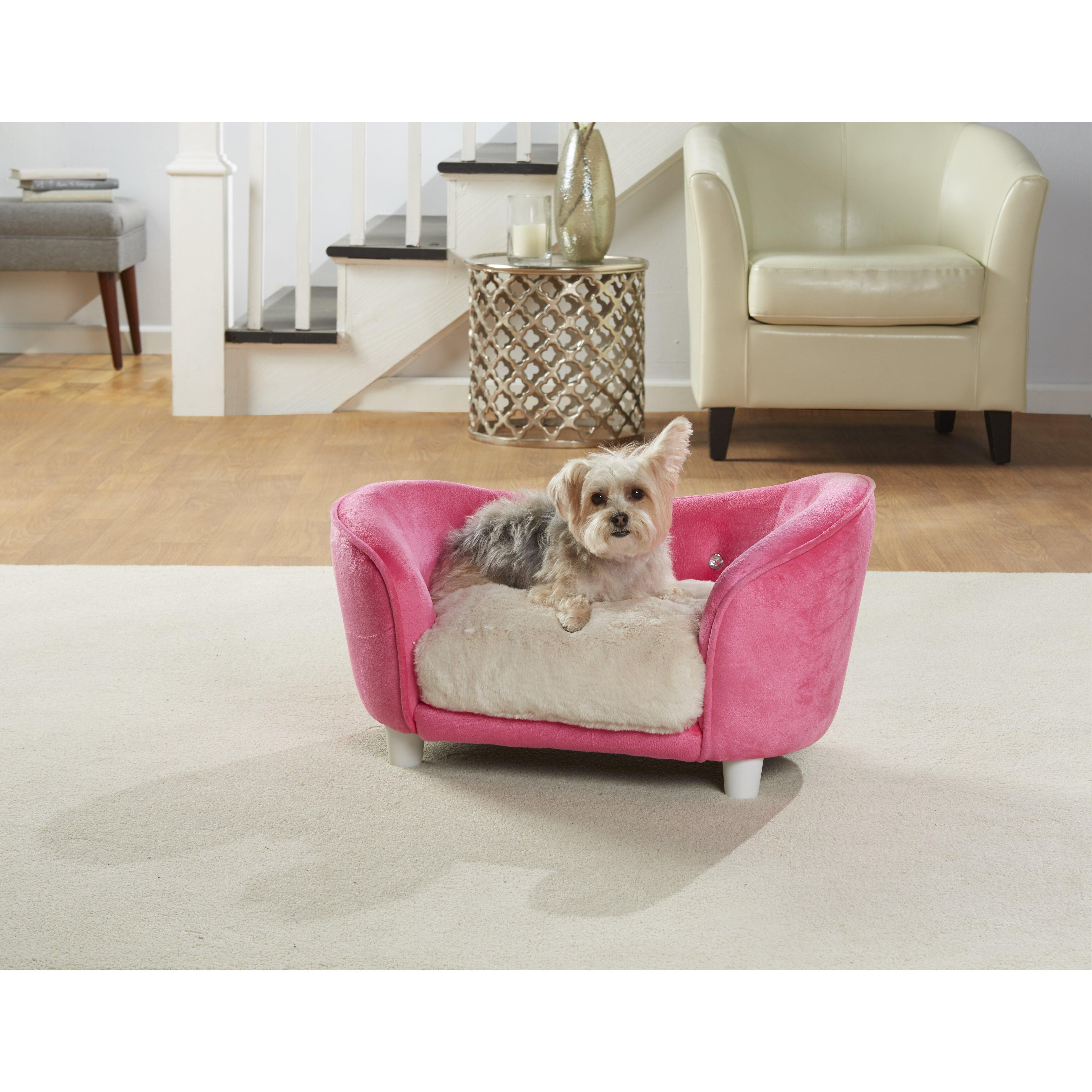 Enchanted Home Pet Kimmi Ultra Plush Snuggle Dog Sofa With Cushion Reviews Wayfair