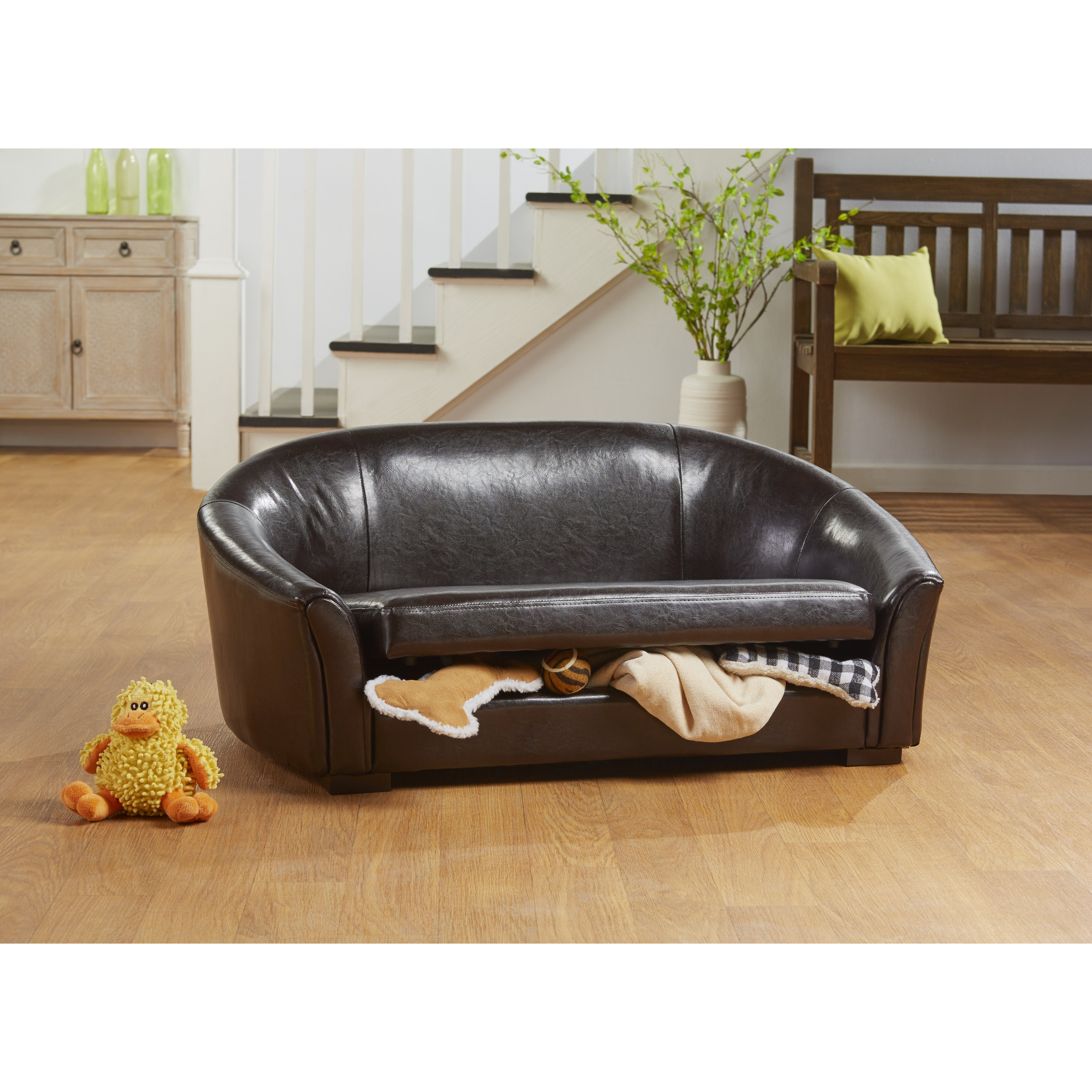 Enchanted Home Pet Lily Dorchester Storage Dog Sofa With