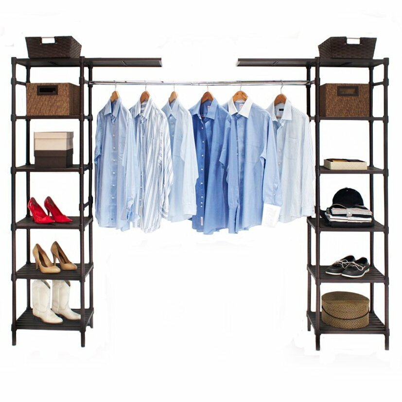 Seville Classics 74quot 202quot Wide Adjustable Closet System  : Seville Classics 74 202 Wide Adjustable Closet System SHE16199B from www.wayfair.com size 827 x 827 jpeg 128kB