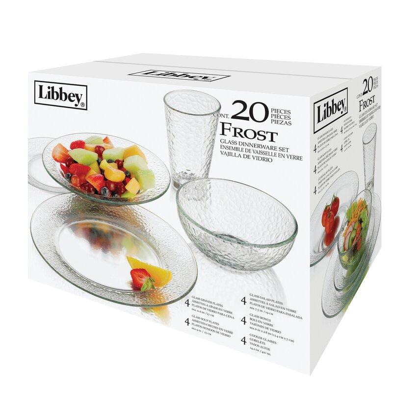 Libbey Frost 20 Piece Dinnerware Set Amp Reviews Wayfair Ca