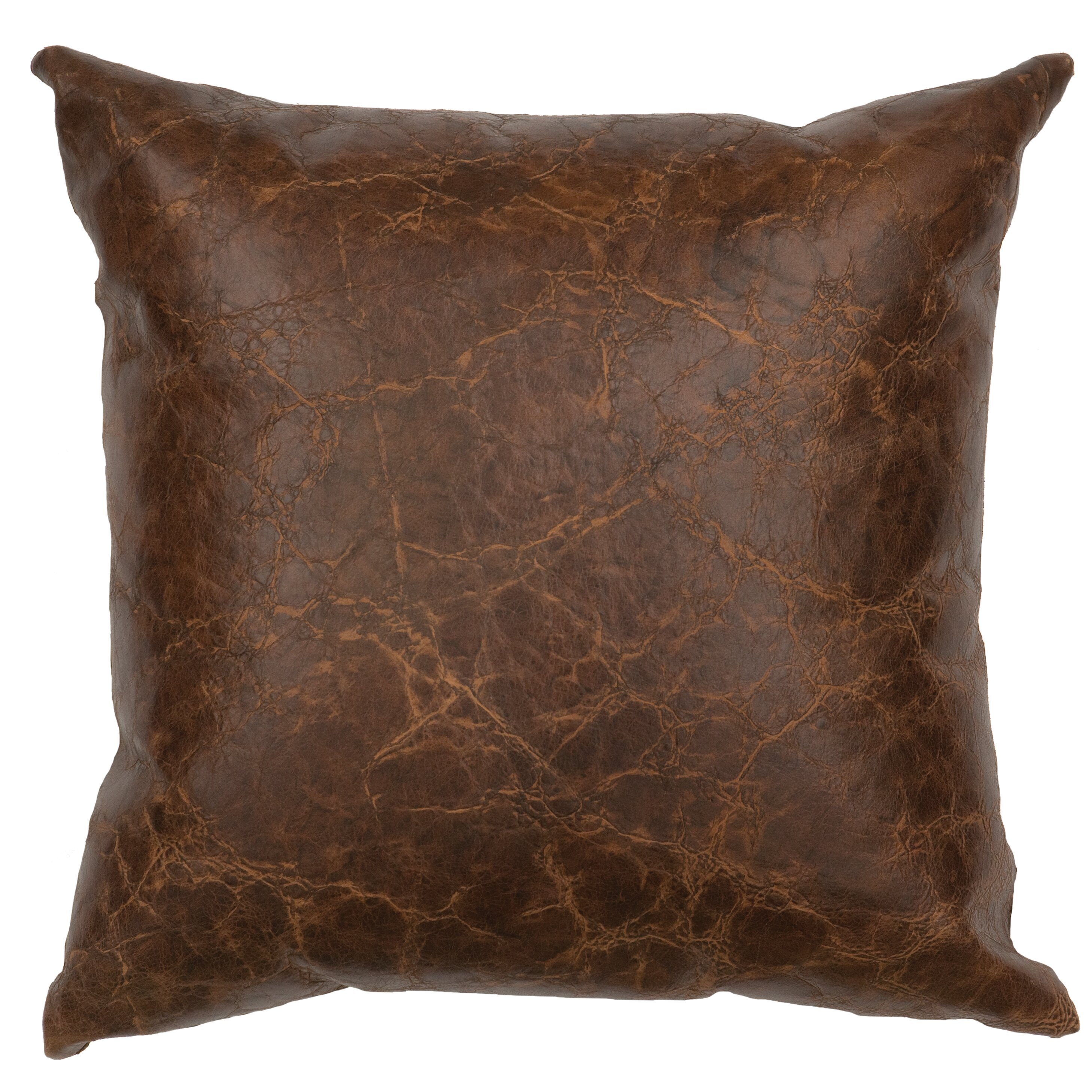 Wooded River Appalachian Leather Throw Pillow Wayfair