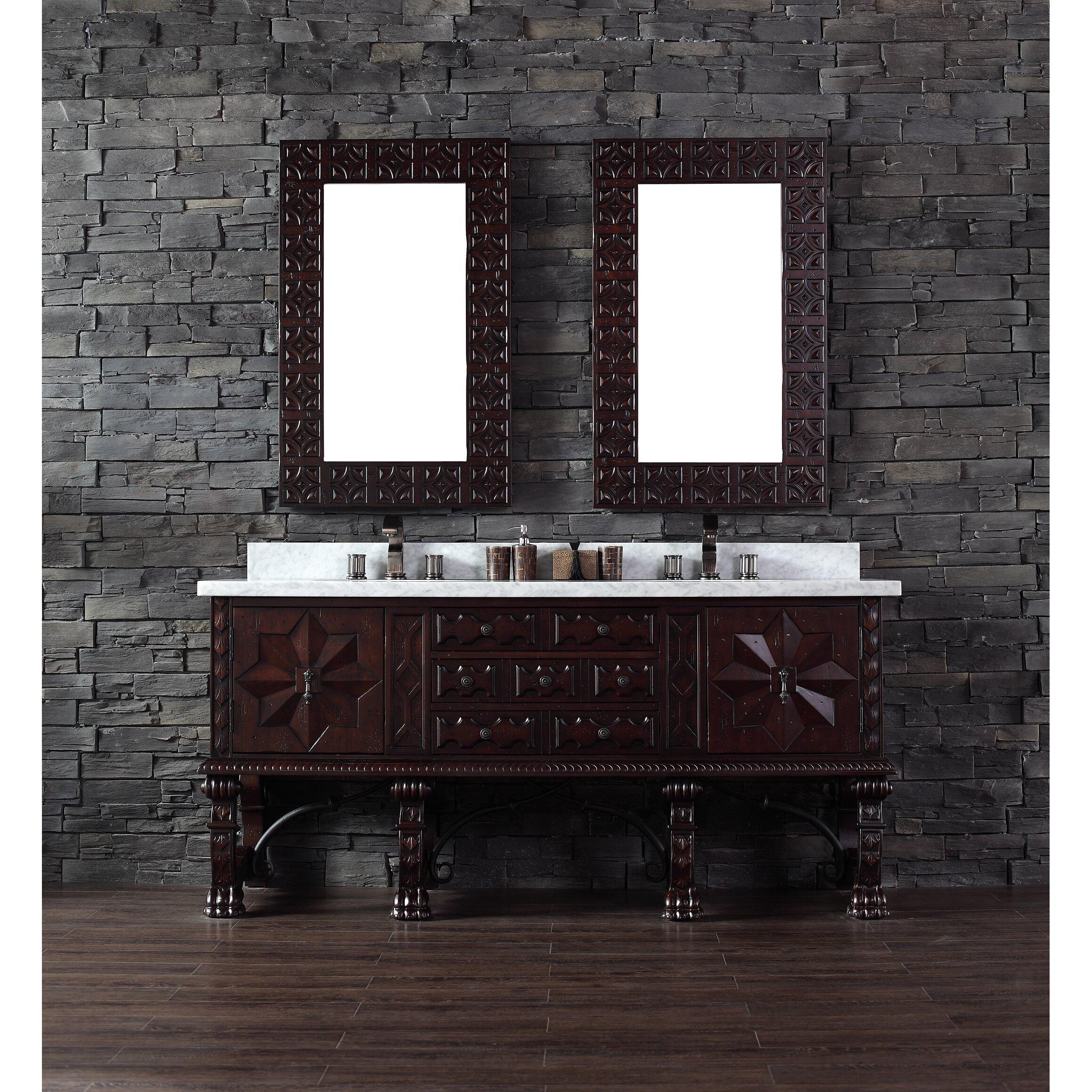 "James Martin Furniture Balmoral 72"" Double Antique Walnut Bathroom Vanit"