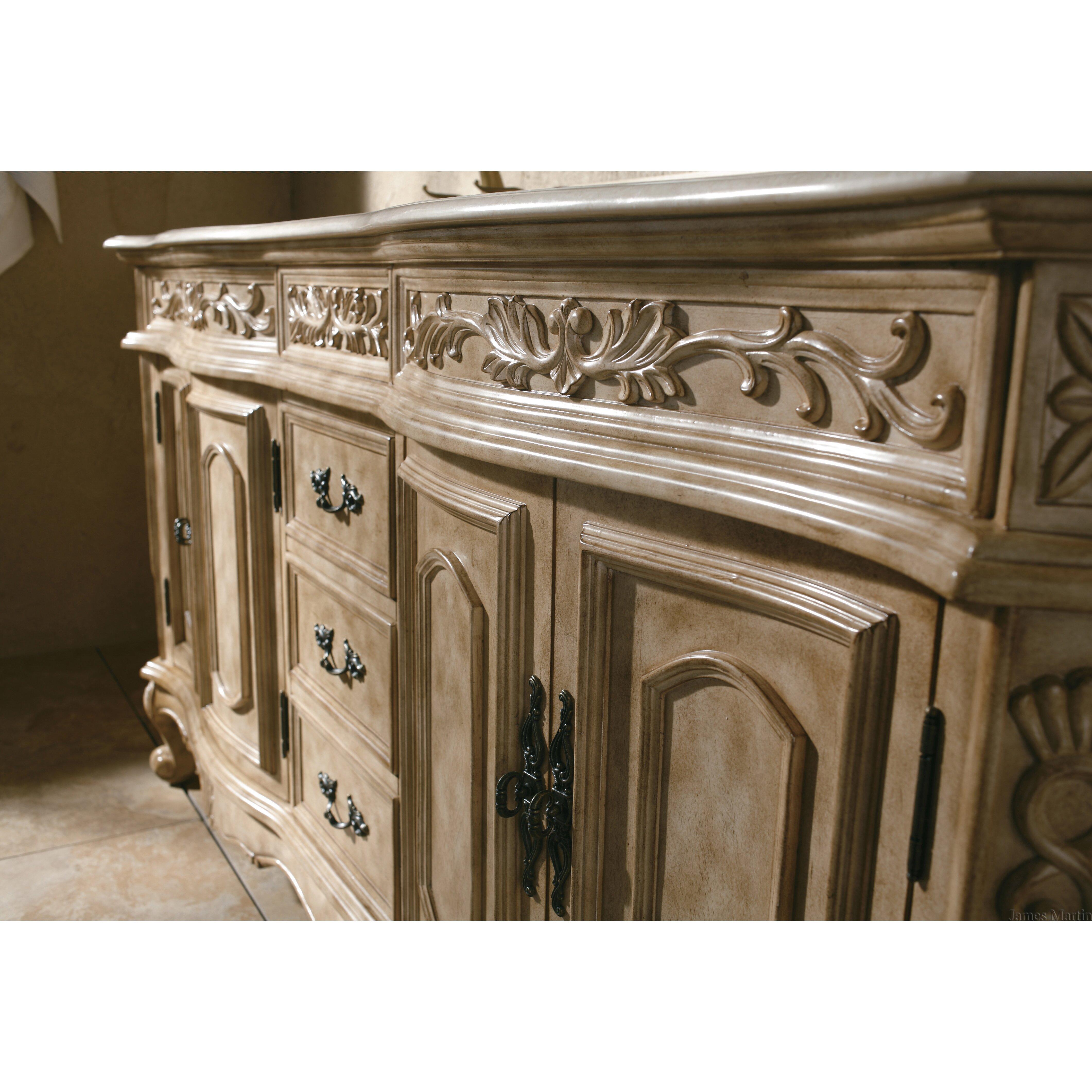 James Martin Furniture Classico 72 Double Antique Parchment Bathroom Vanity Set Reviews Wayfair