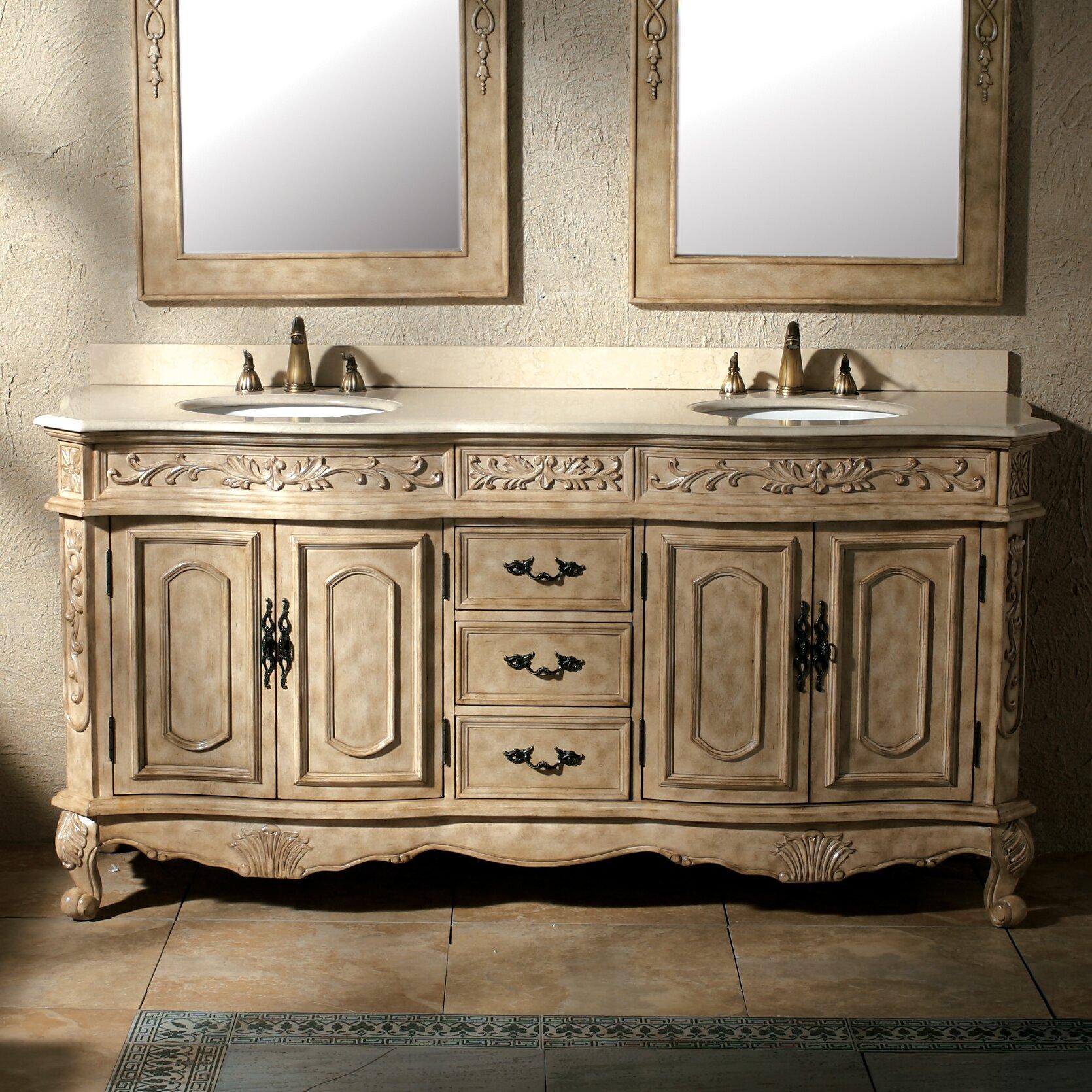 "James Martin Furniture Classico 72"" Double Antique Parchment Bathroom Va"