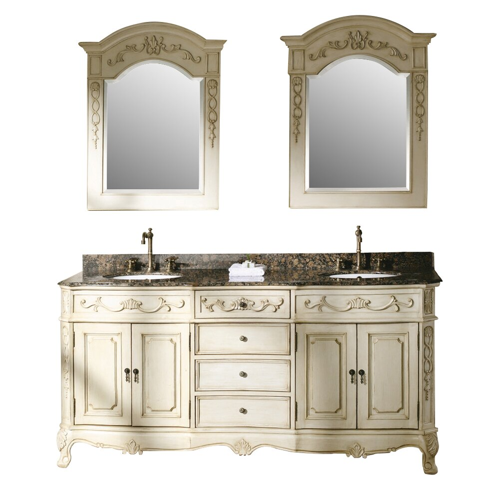 James martin furniture classico 72 double white bathroom - Wayfair furniture bathroom vanities ...
