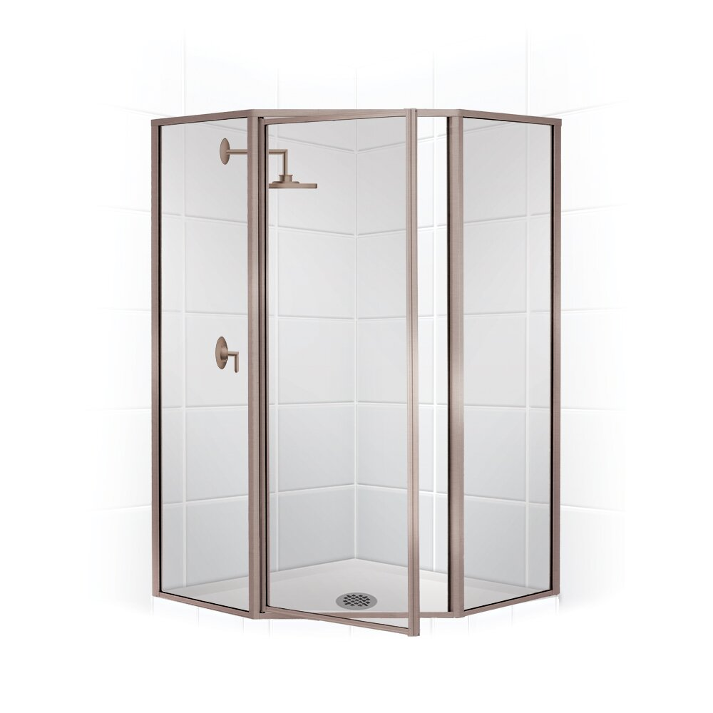 coastal industries legend 24 x 66 neo angle swing door shower enclosure wayfair. Black Bedroom Furniture Sets. Home Design Ideas