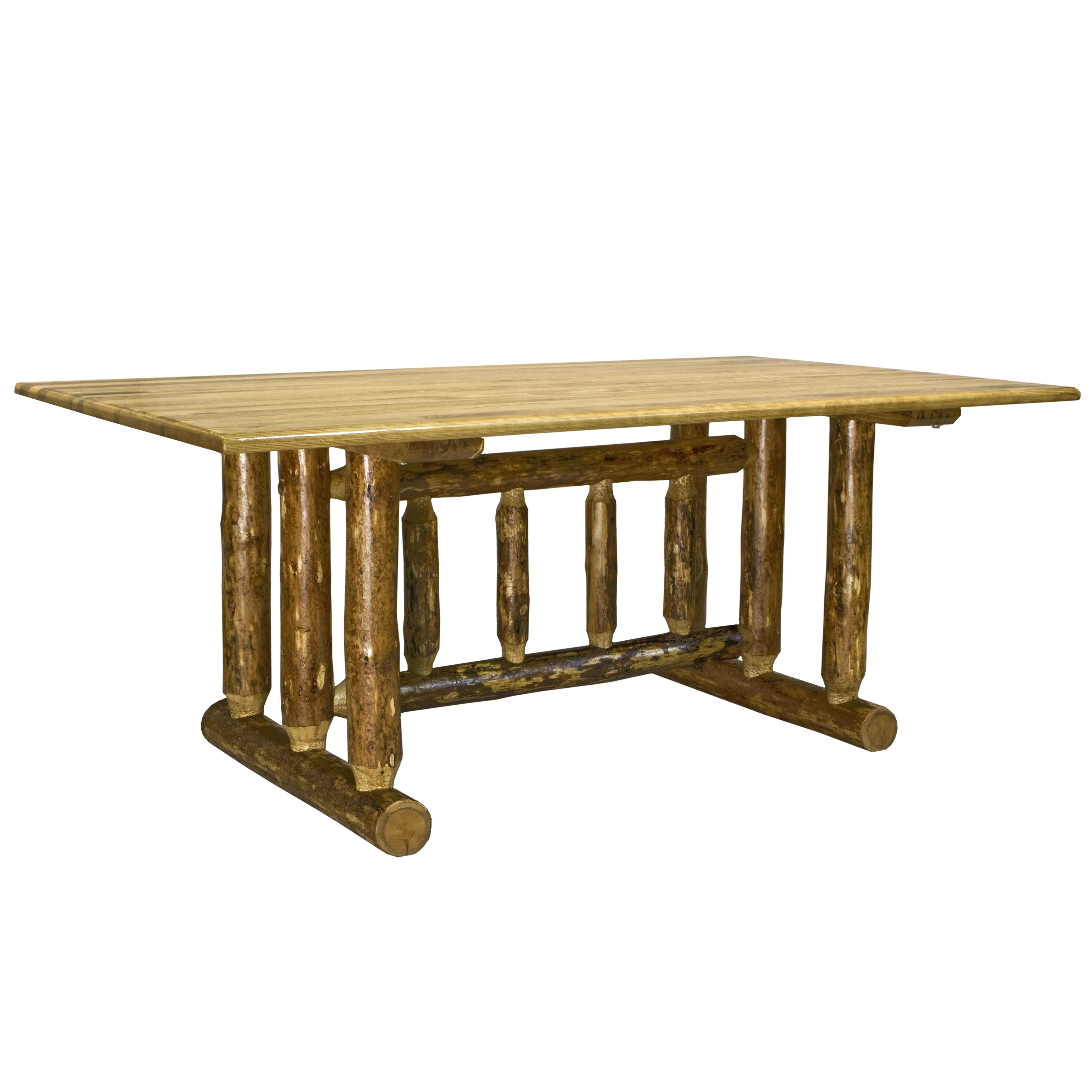 Montana woodworks glacier country trestle dining table for Trestle dining table
