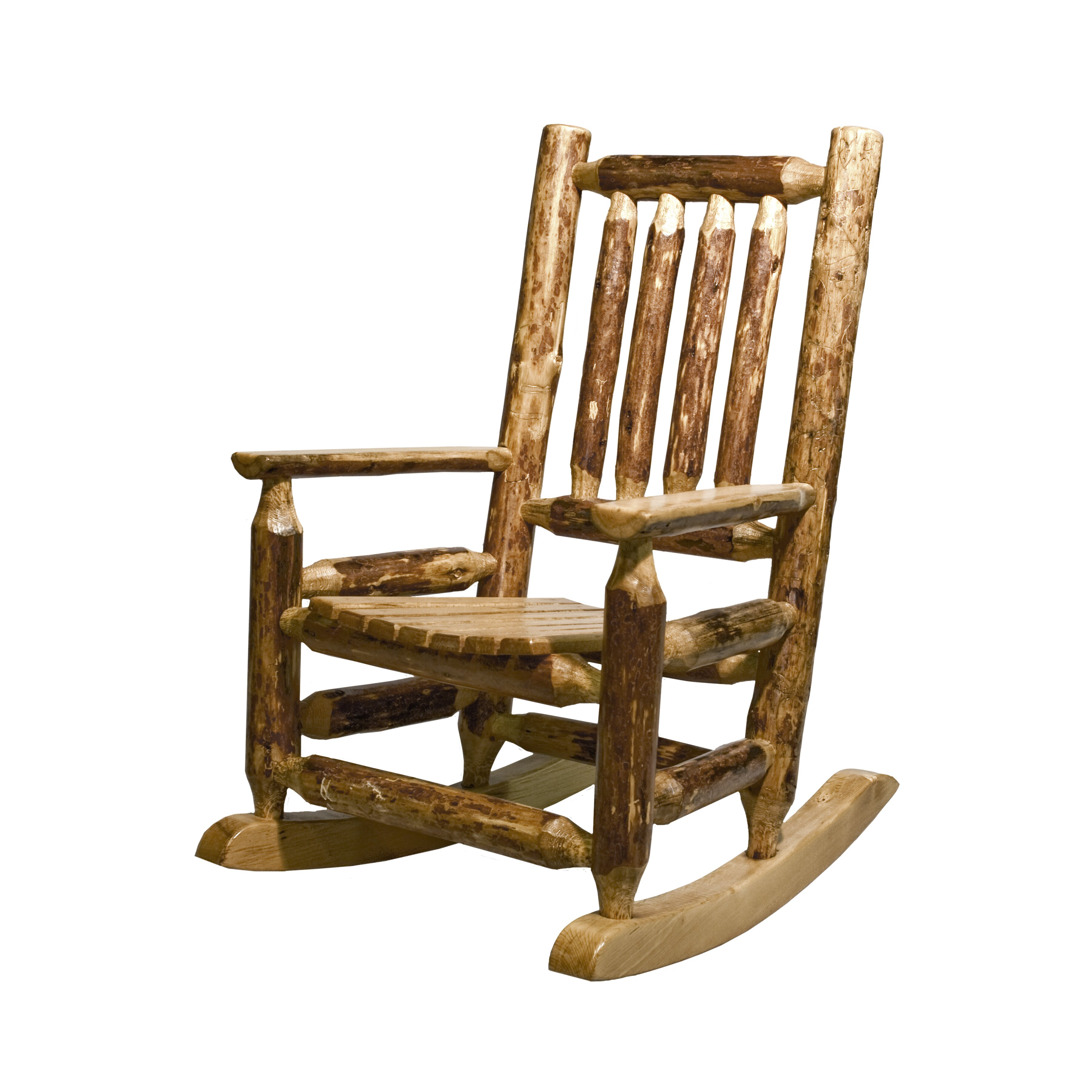 ... Woodworks® Glacier Country Log Childs Rocking Chair  Wayfair