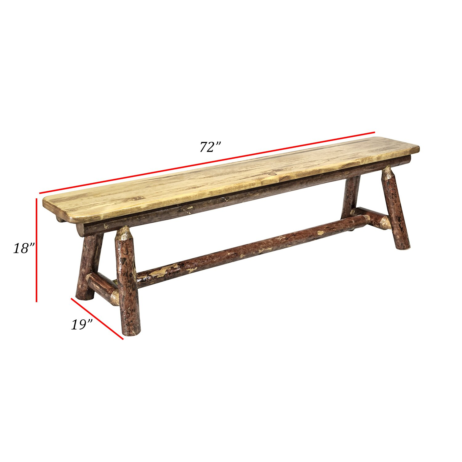 Montana Woodworks Glacier Country Plank Style 6 Foot Bench Reviews