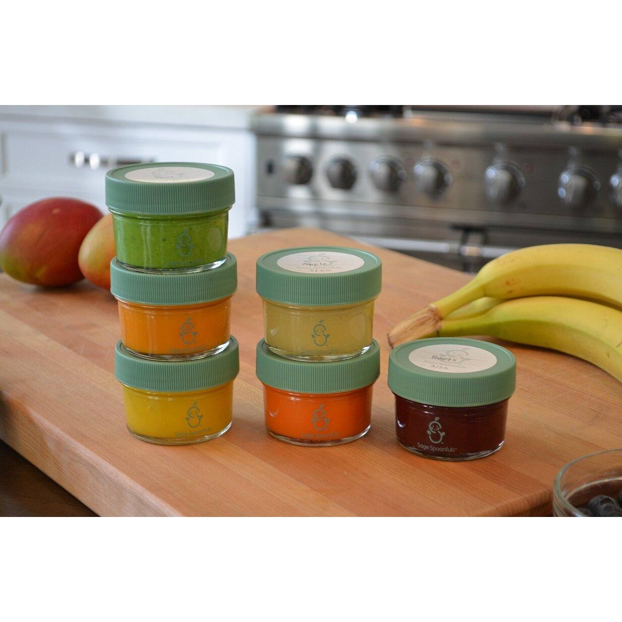 sage spoonfuls glass baby food storage jar wayfair. Black Bedroom Furniture Sets. Home Design Ideas
