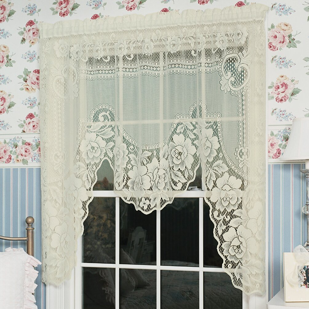 Heritage Lace Victorian Rose Swag 72 Quot Curtain Valance