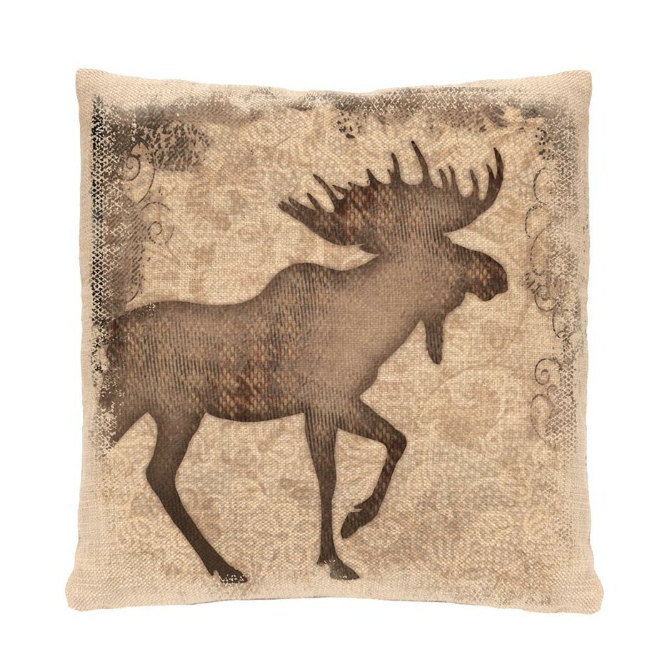 Heritage Lace Alpine Moose Throw Pillow & Reviews Wayfair
