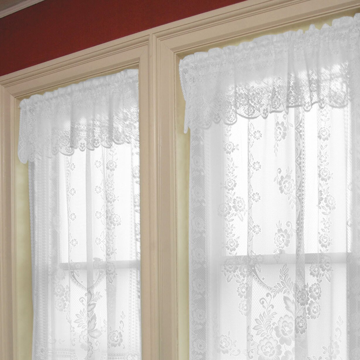 heritage lace curtains and valances heritage lace tea rose 6