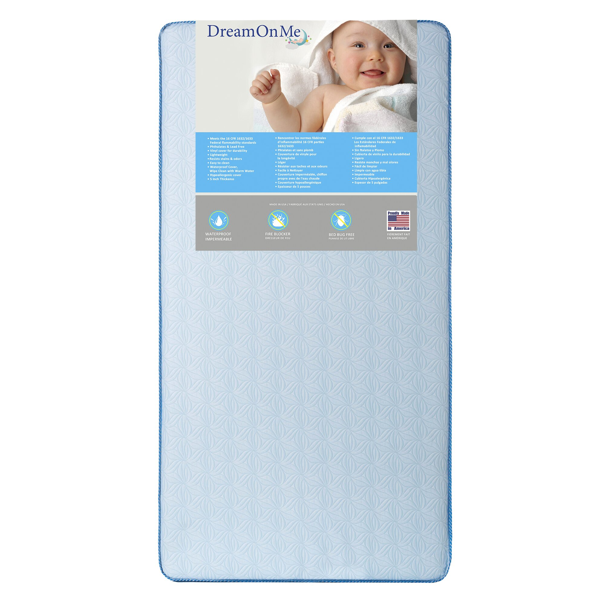 Dream On Me Moonlight Crib And Toddler Mattress Amp Reviews