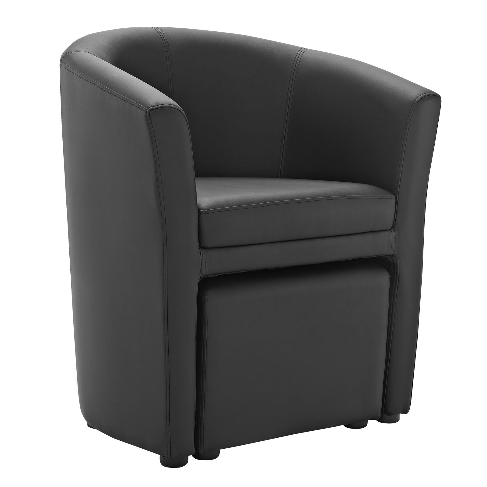 Modway Divulge Barrel Chair And Ottoman Set Amp Reviews