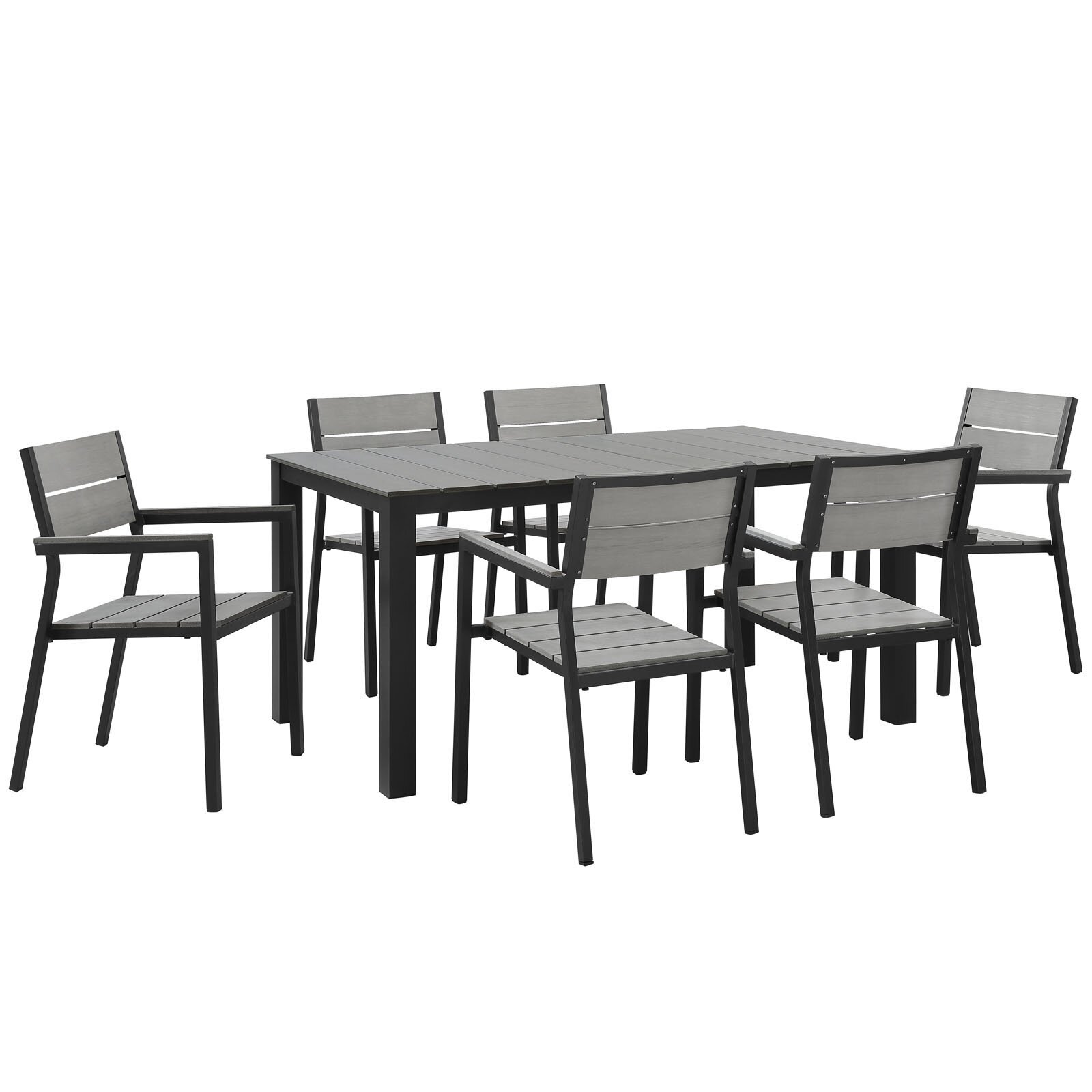 Modway maine 7 piece outdoor patio dining set reviews for 7 piece dining set